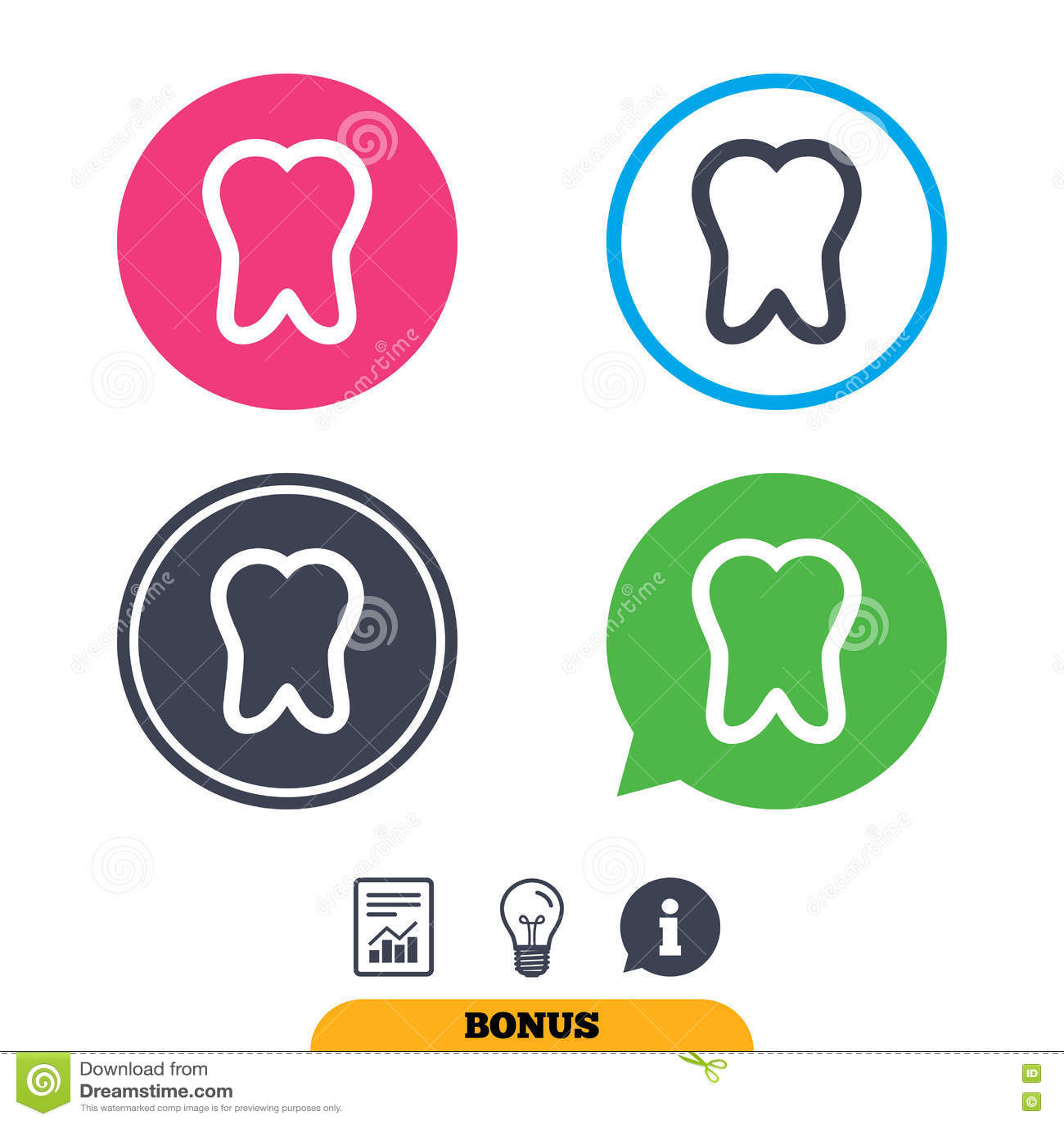 Значок знака зуба Символ зубоврачебной заботы