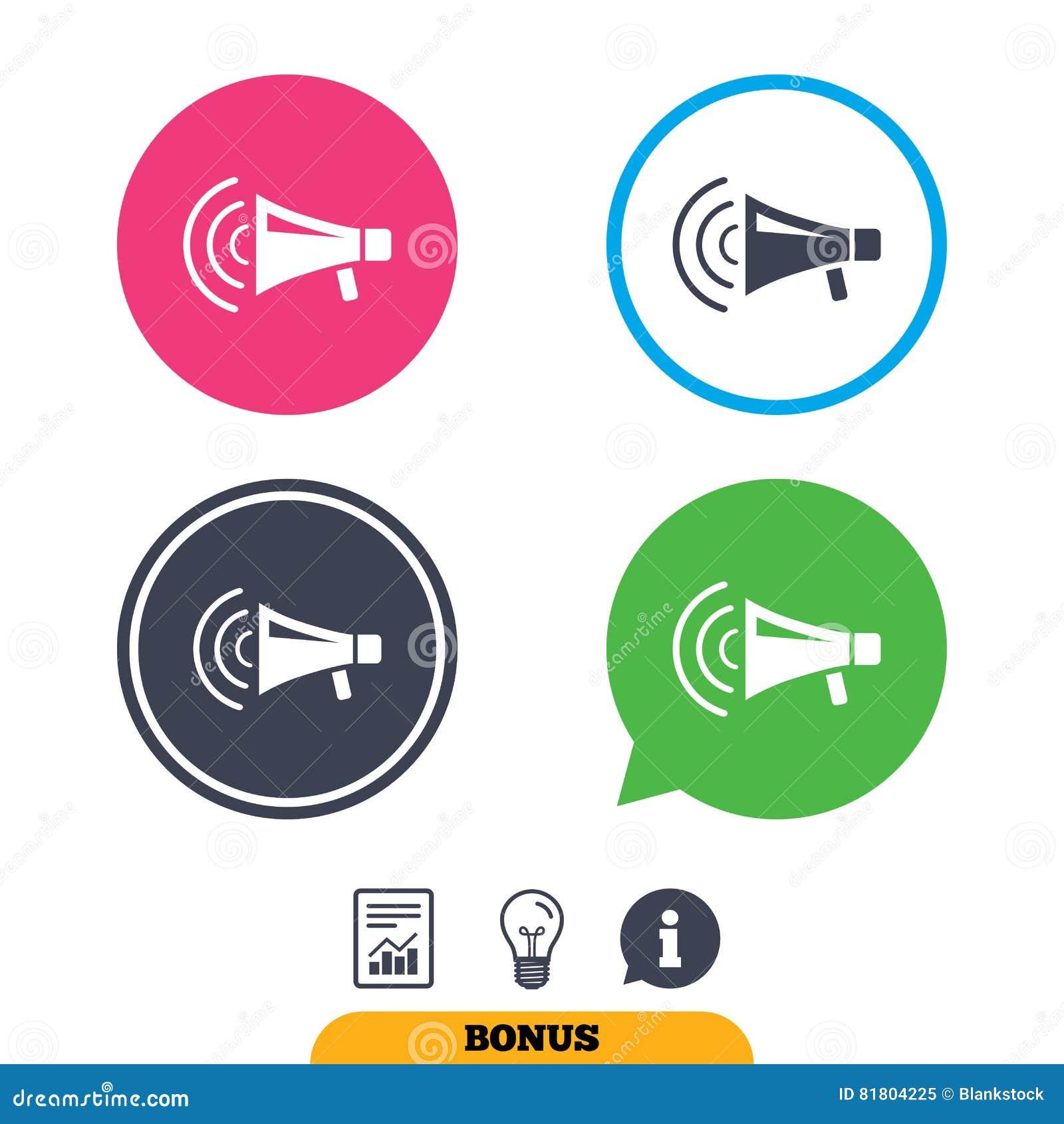 Значок знака мегафона Символ забастовки громкоговорителя