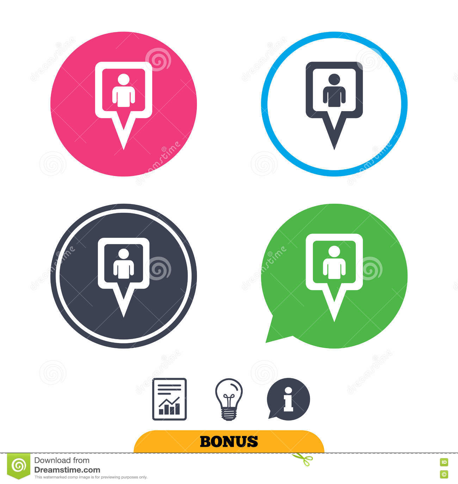 Значок знака потребителя указателя карты Символ отметки