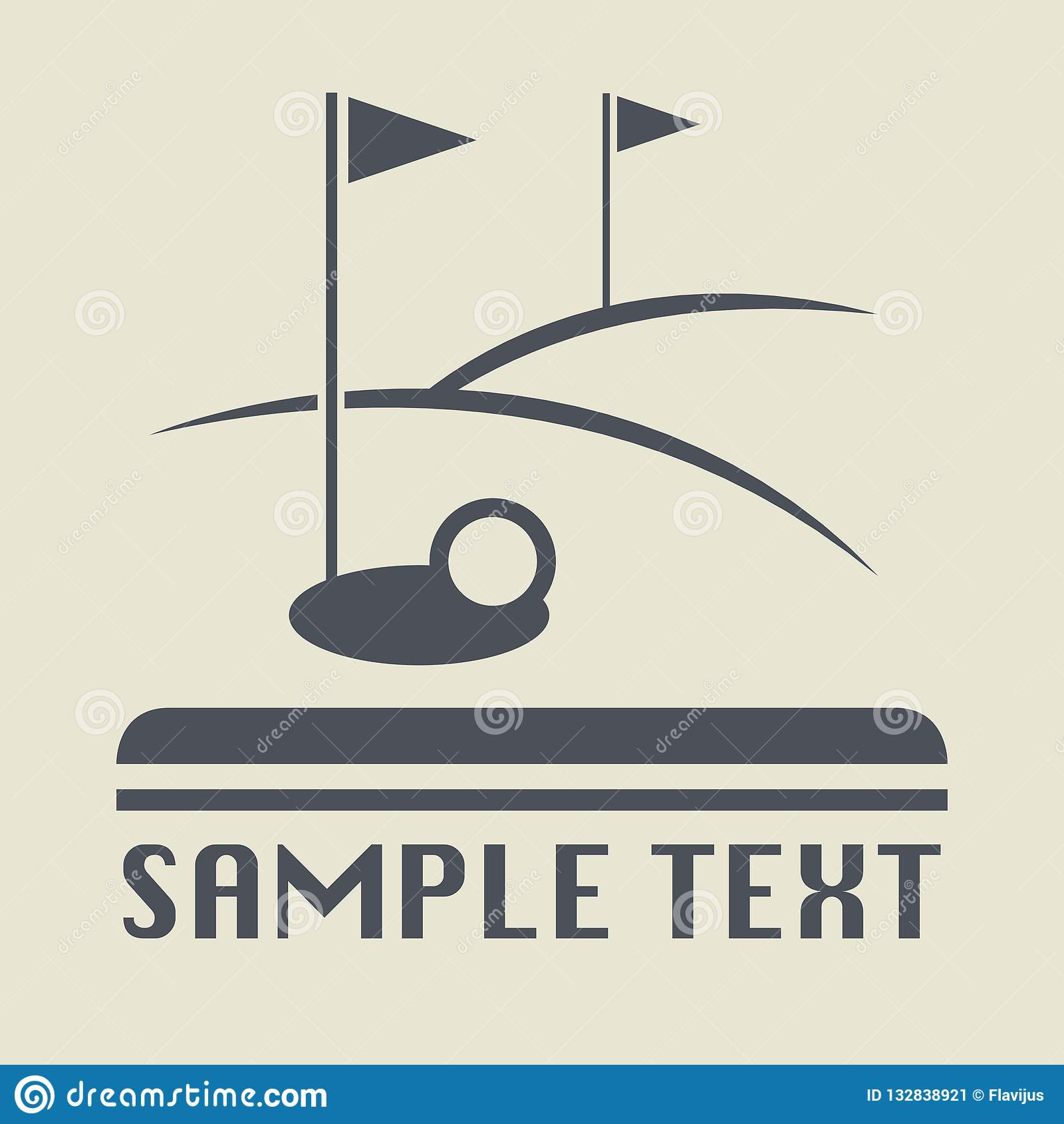 Значок или знак поля гольфа