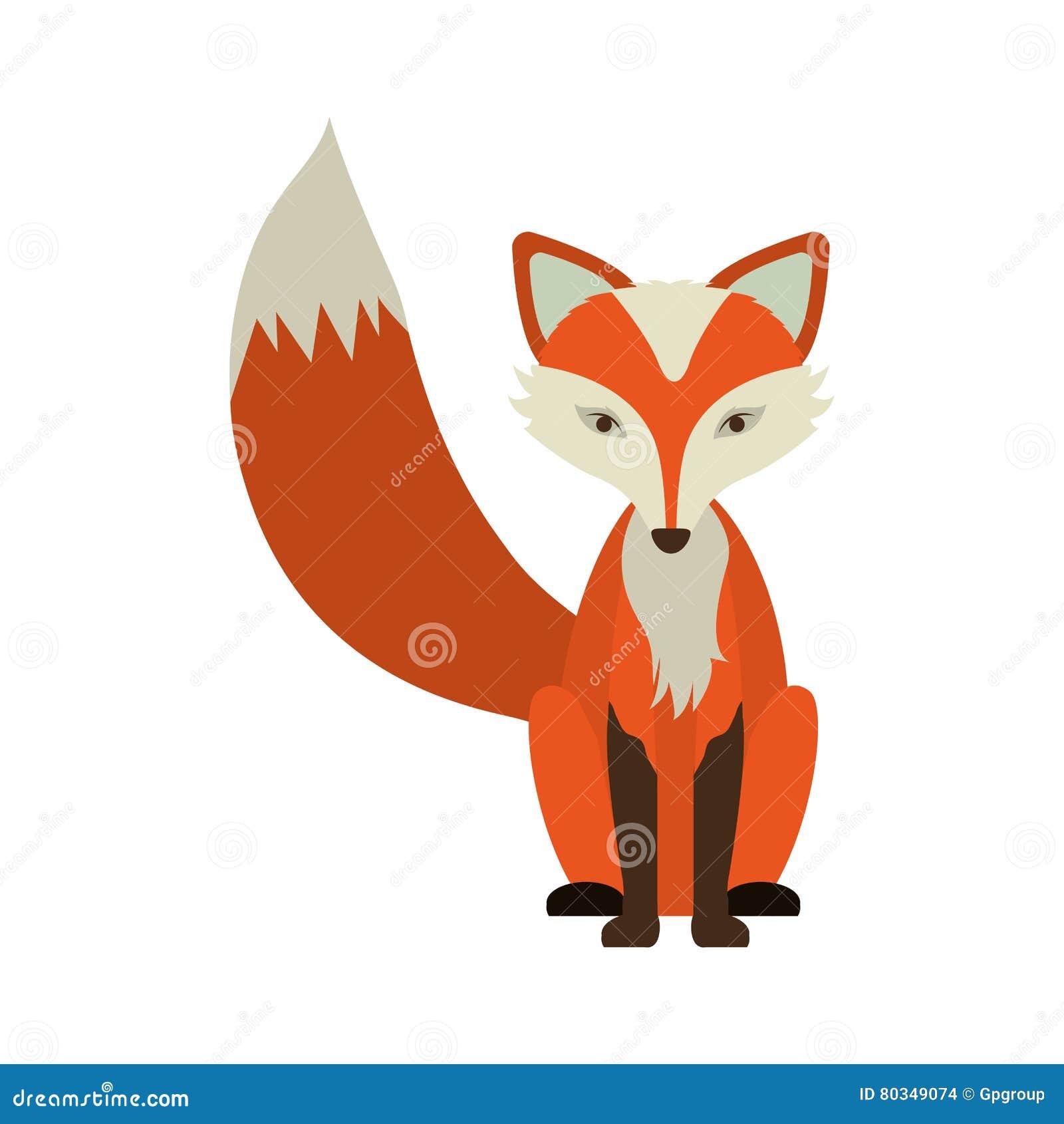 Значок лисы шаржа
