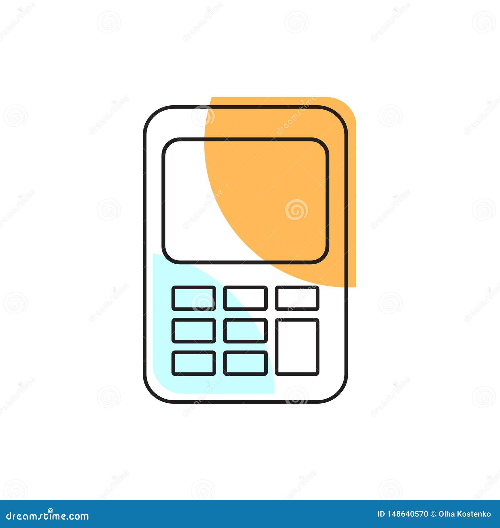 Значок калькулятора Элемент школы для дизайна