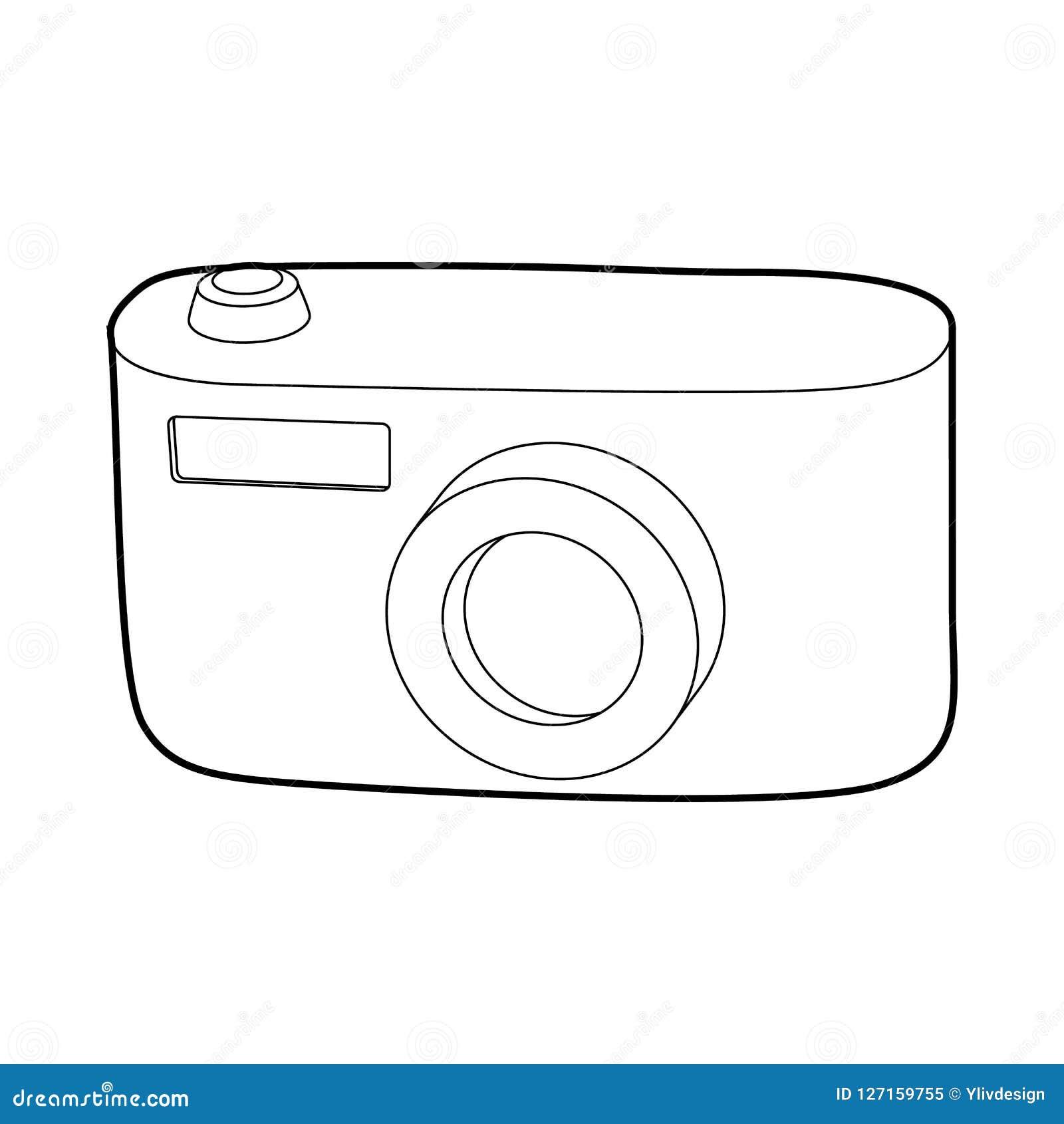 Значок камеры, стиль плана