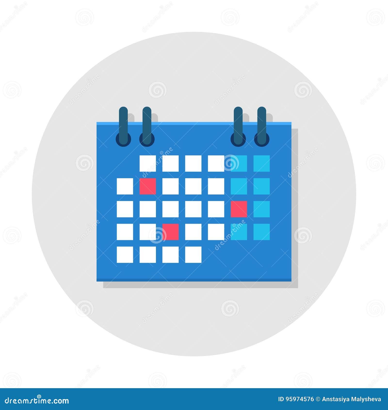 Значок календаря плоский