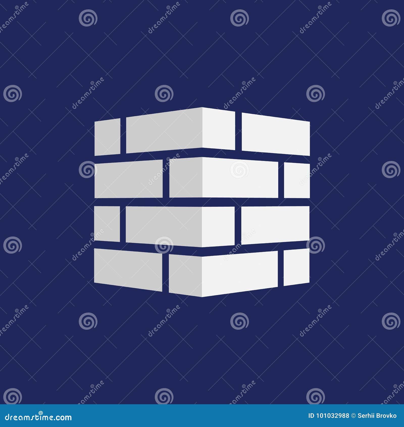 Значок кирпичей Логотип кирпичей Изолировано на предпосылке также вектор иллюстрации притяжки corel