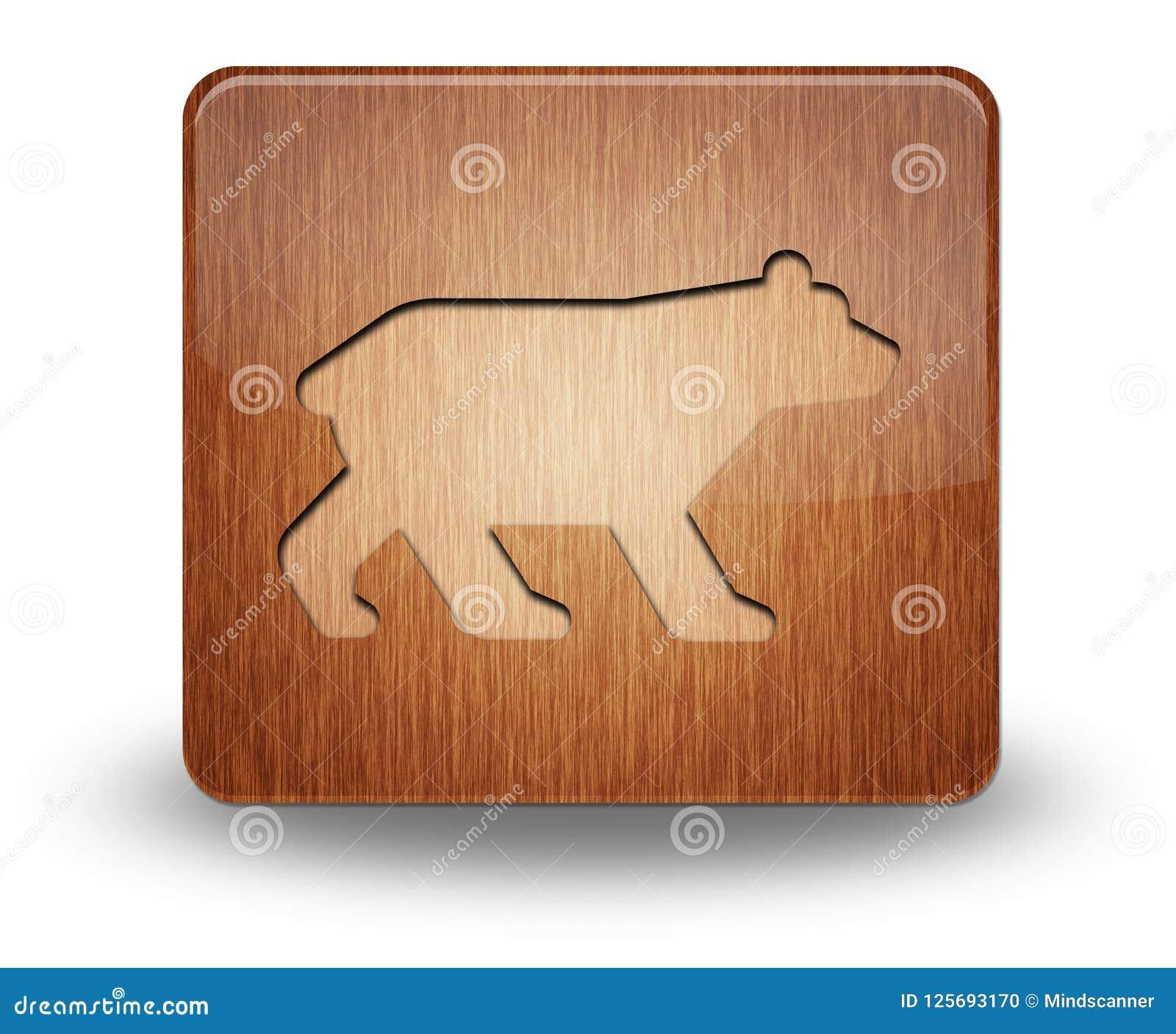 Значок, кнопка, медведь пиктограммы