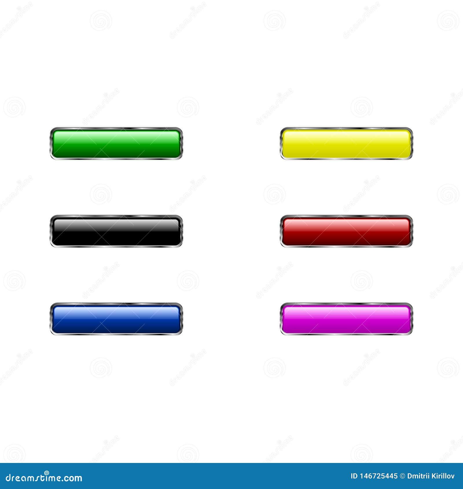 Значок кнопки установленный изолированный на белой предпосылке