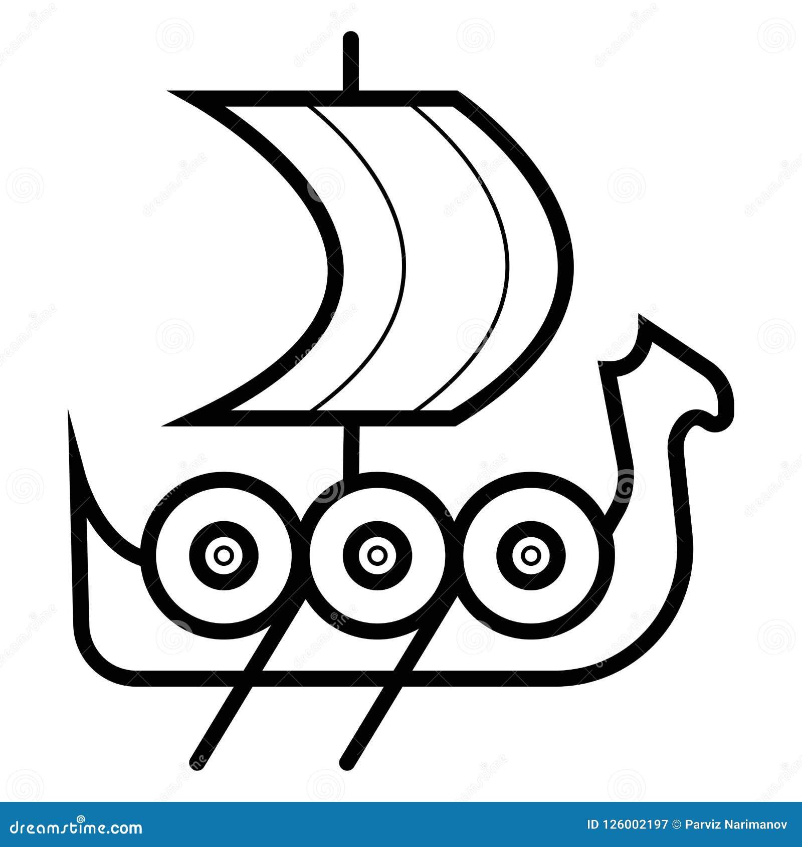 Значок корабля Викинга