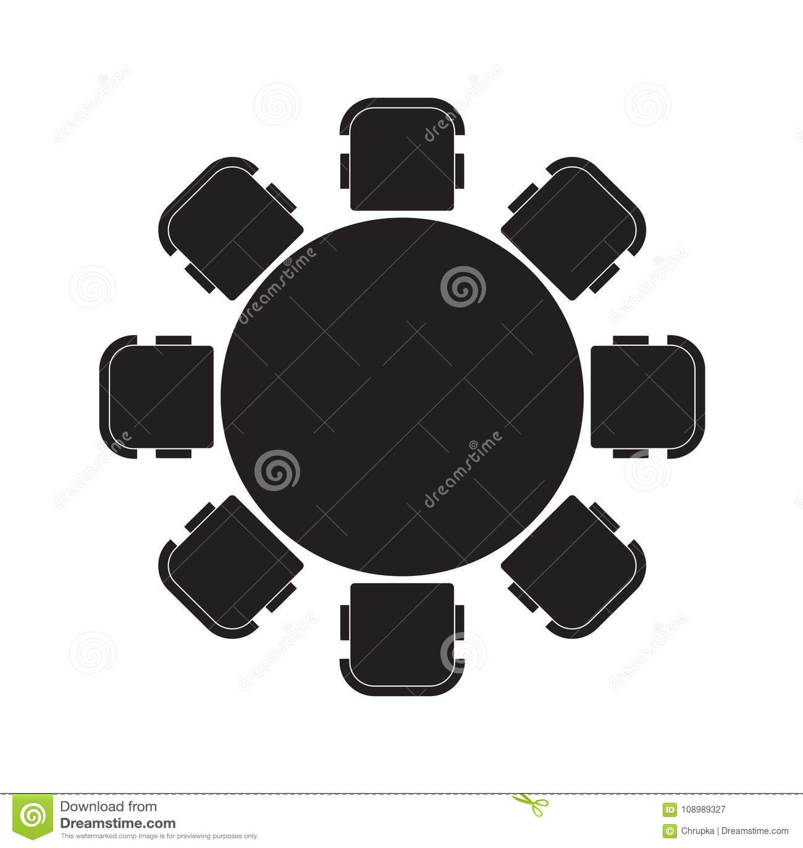 фото стола круглого