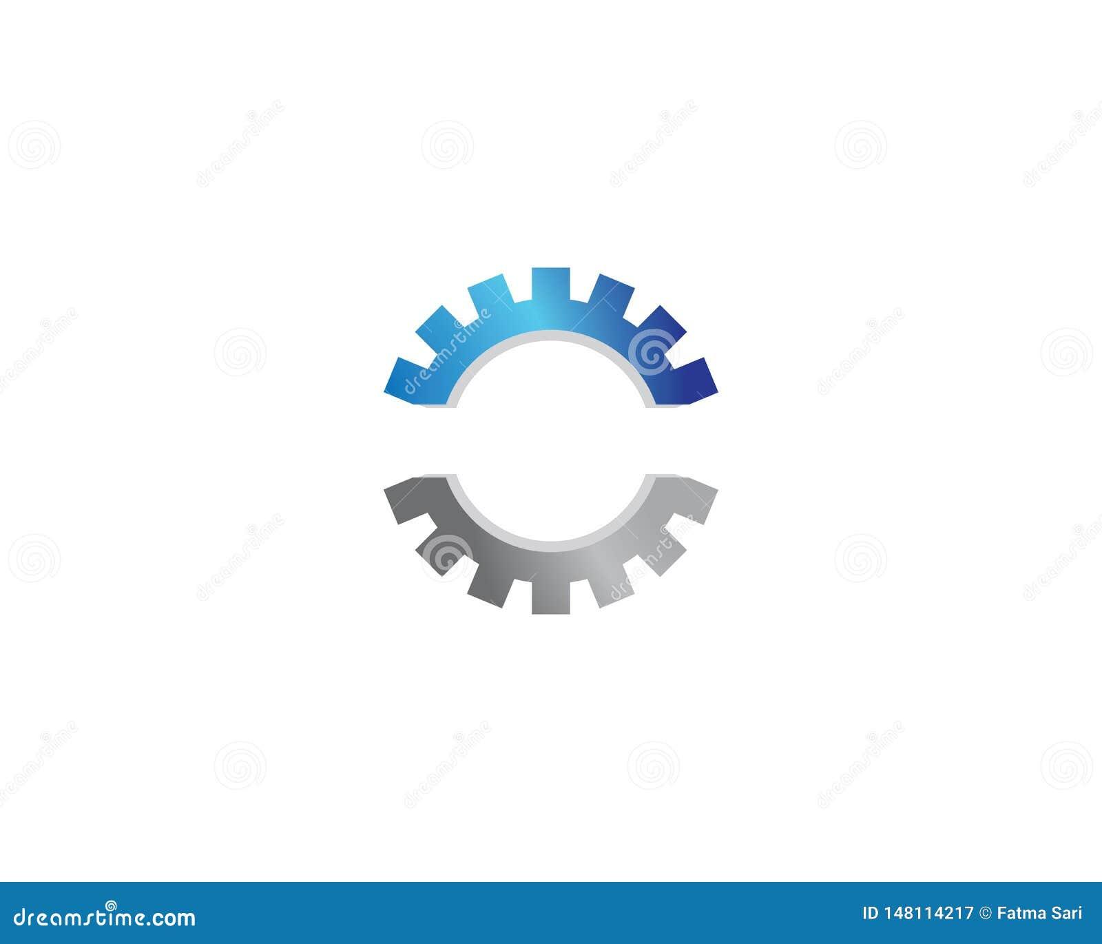 Значок логотипа машинного оборудования шестерни