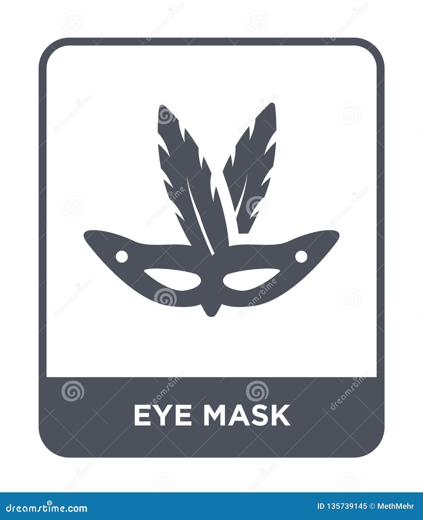 значок маски глаза в ультрамодном стиле дизайна Значок маски глаза изолированный на белой предпосылке квартира значка вектора мас