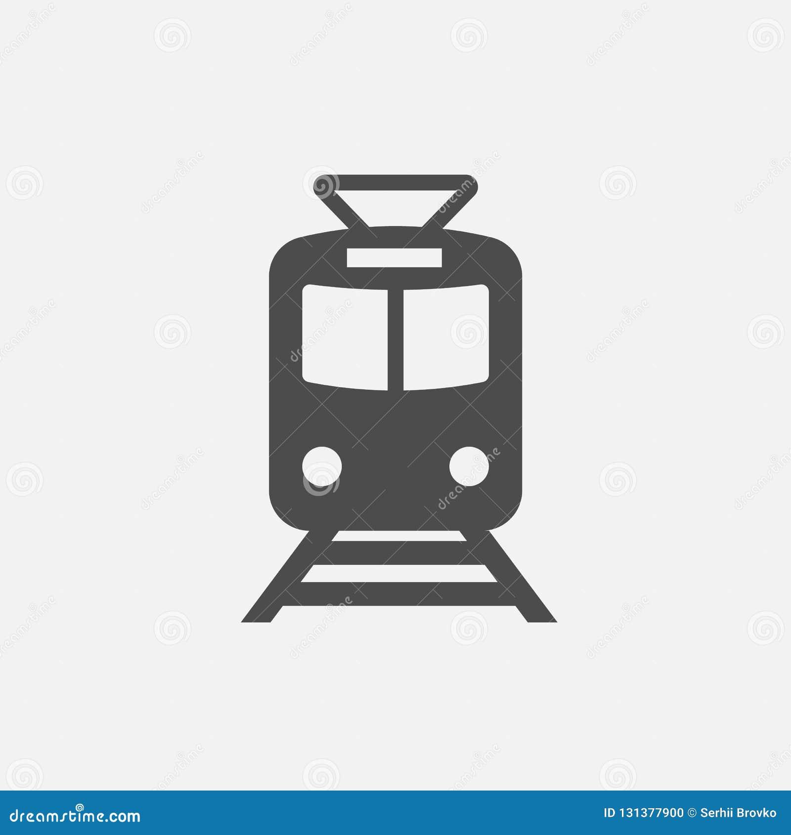 Значок метро Знак метро Символ поезда Икона изолированная на белой предпосылке также вектор иллюстрации притяжки corel