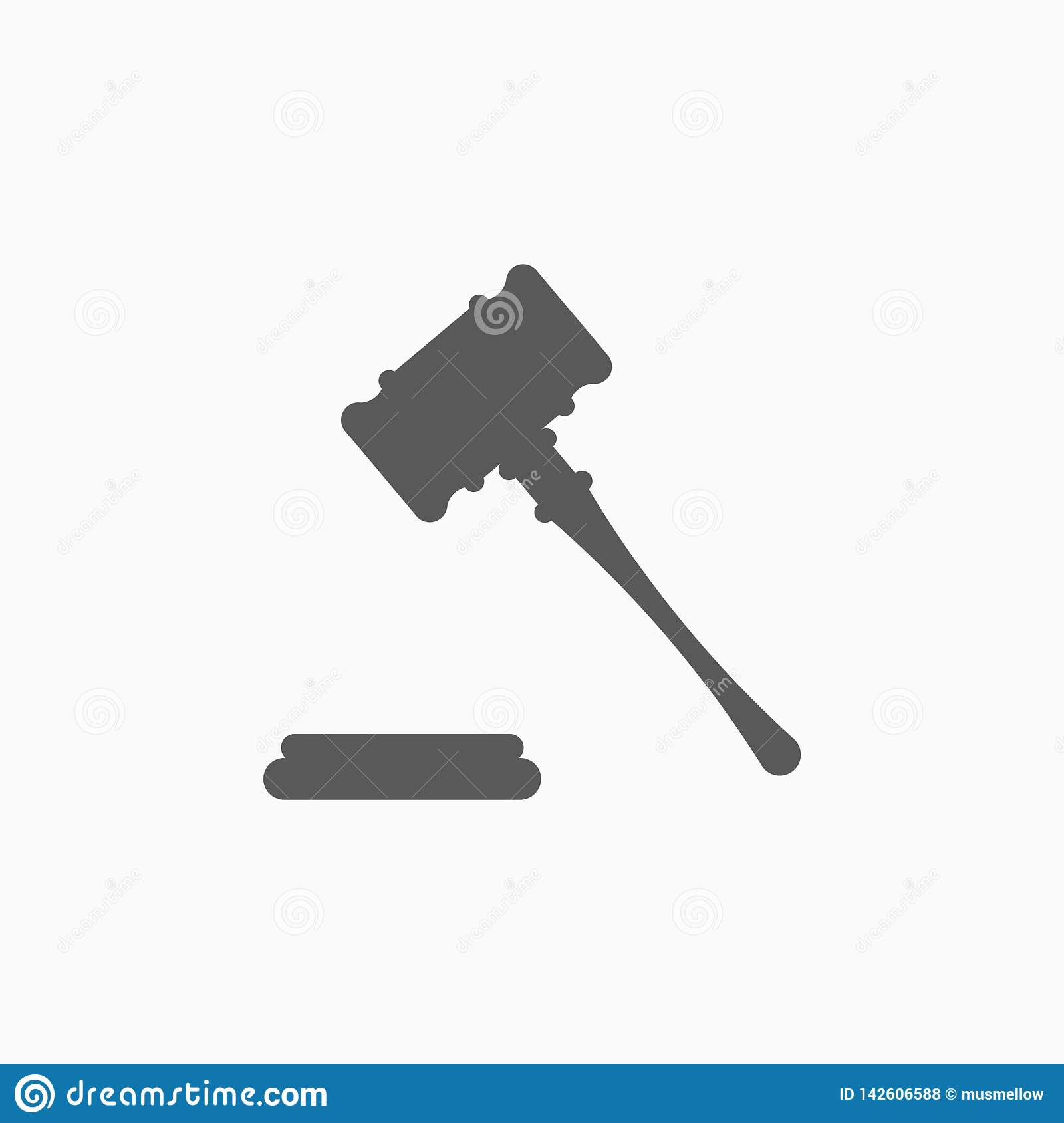 Значок молотка, молоток, судья, суждение, молоток аукциона