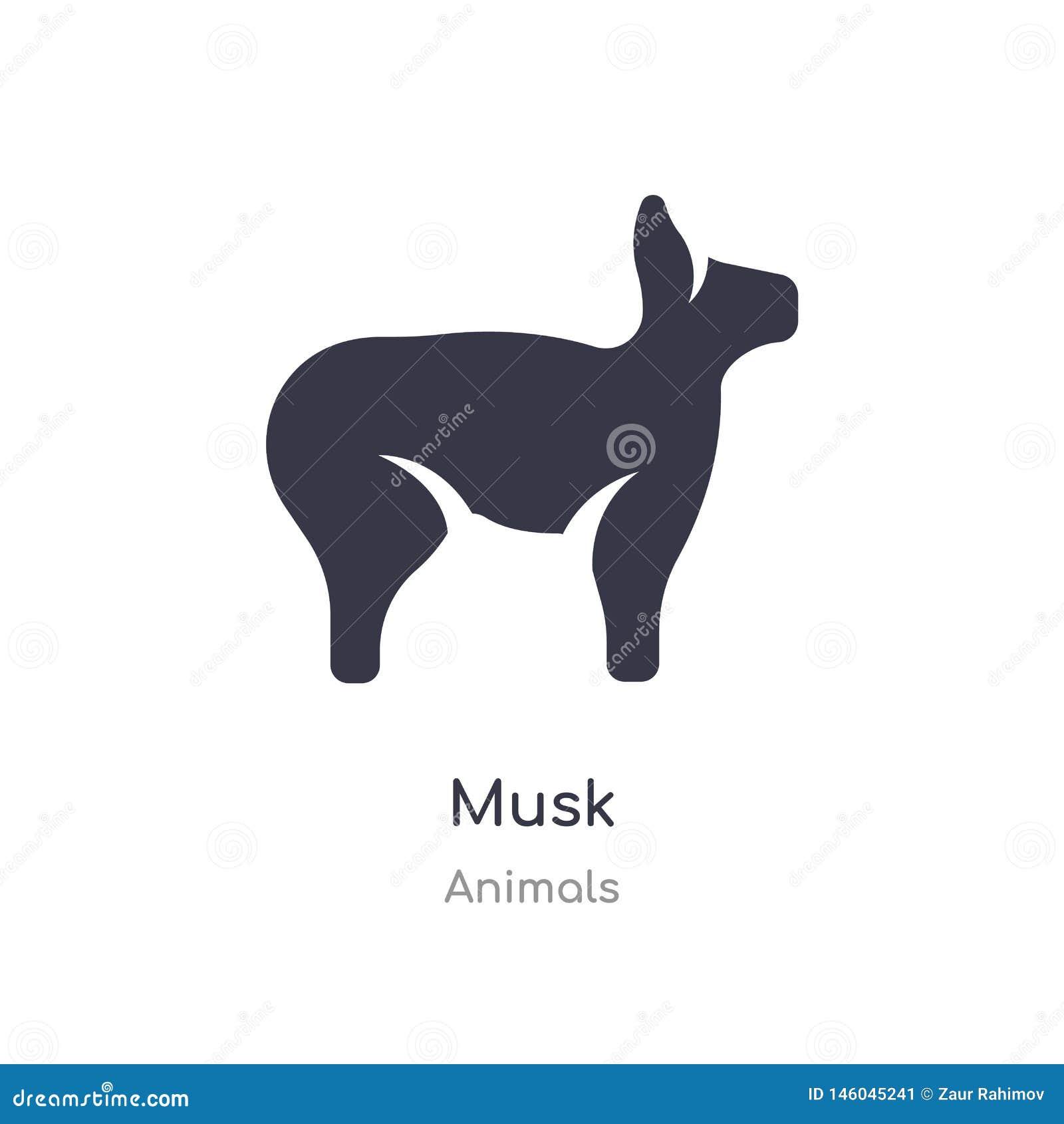 значок мускуса изолированная иллюстрация вектора значка мускуса от собрания животных editable спойте символ смогите быть пользой