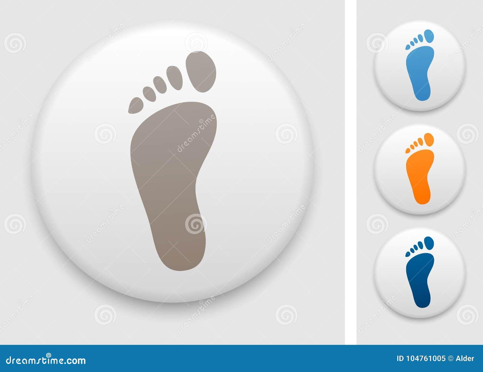 Значок ноги