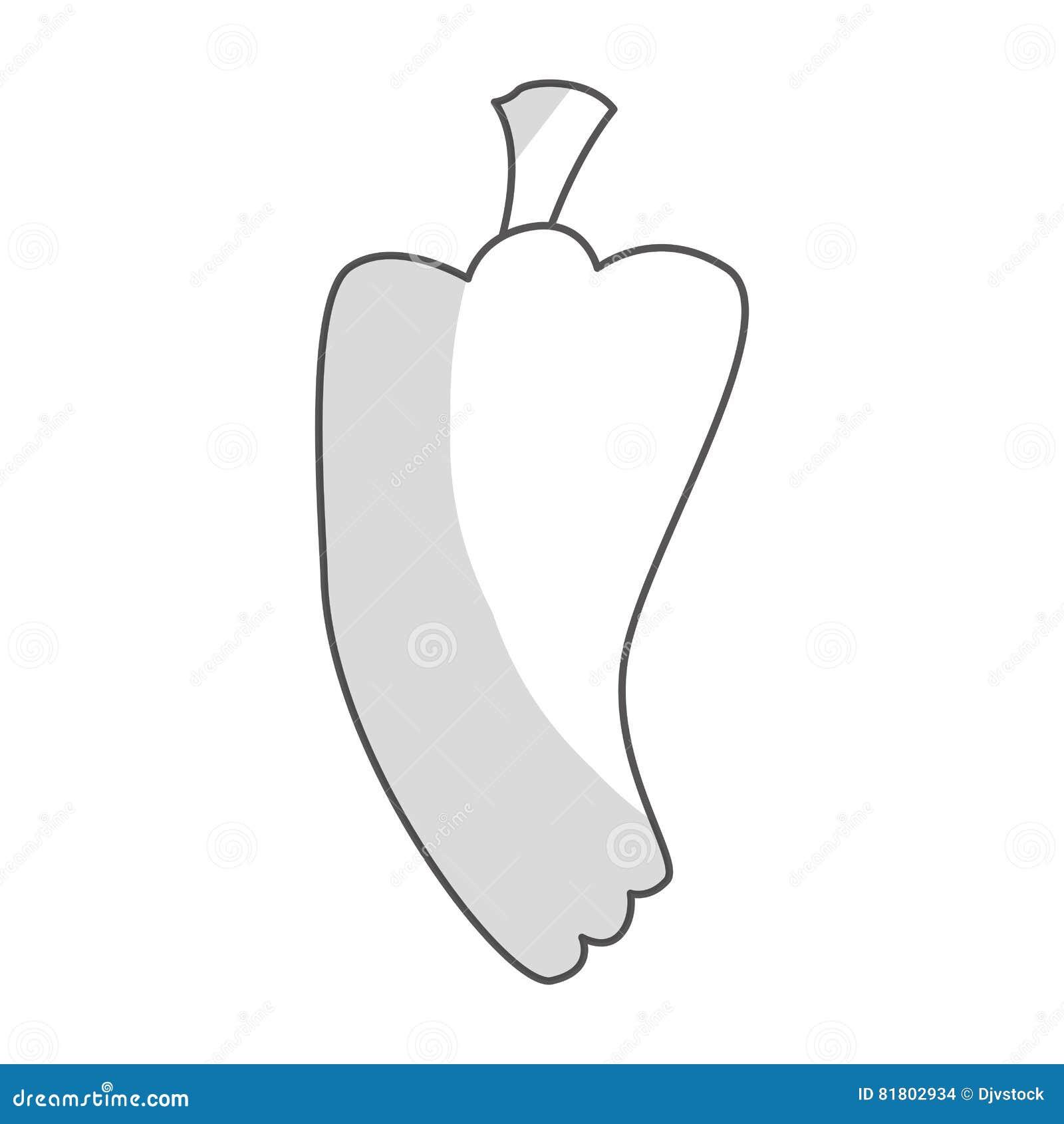 Значок овоща перца