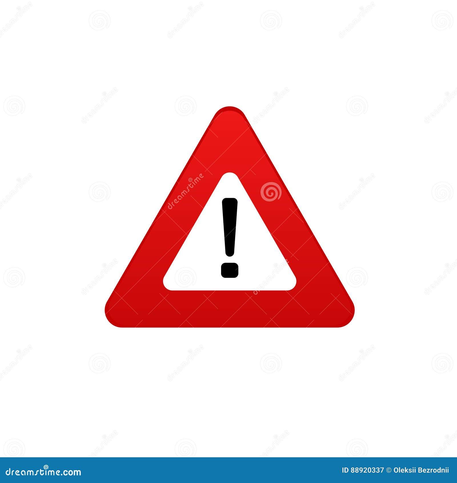 Значок опасности Символ вектора знака опасности стоп знака