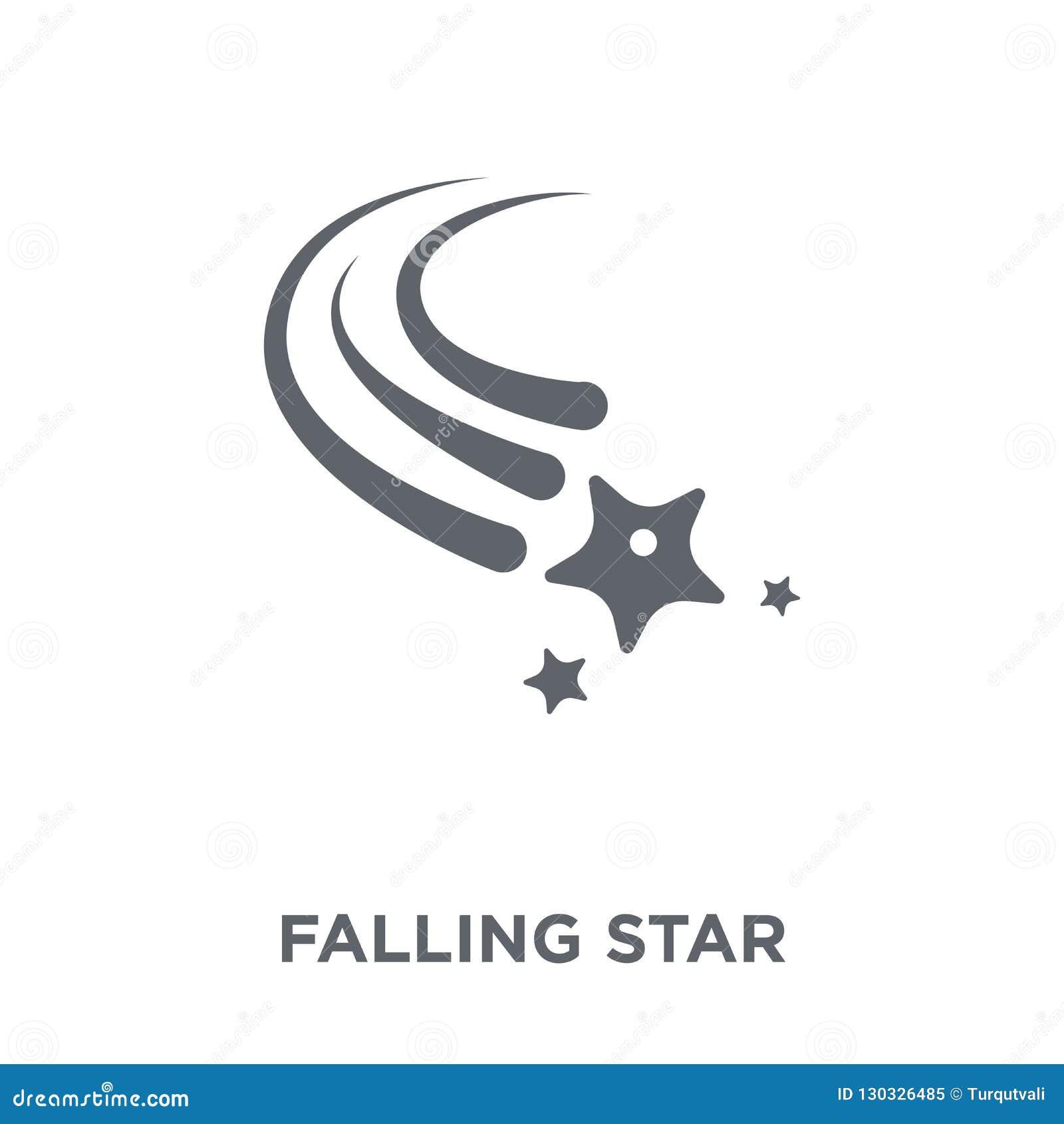Значок падающей звезды от собрания астрономии