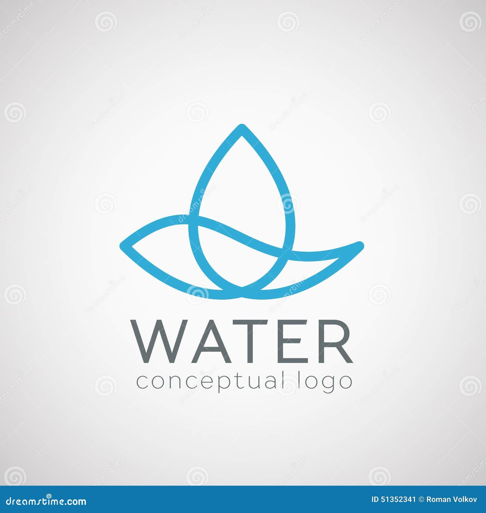Значок падения воды вектора