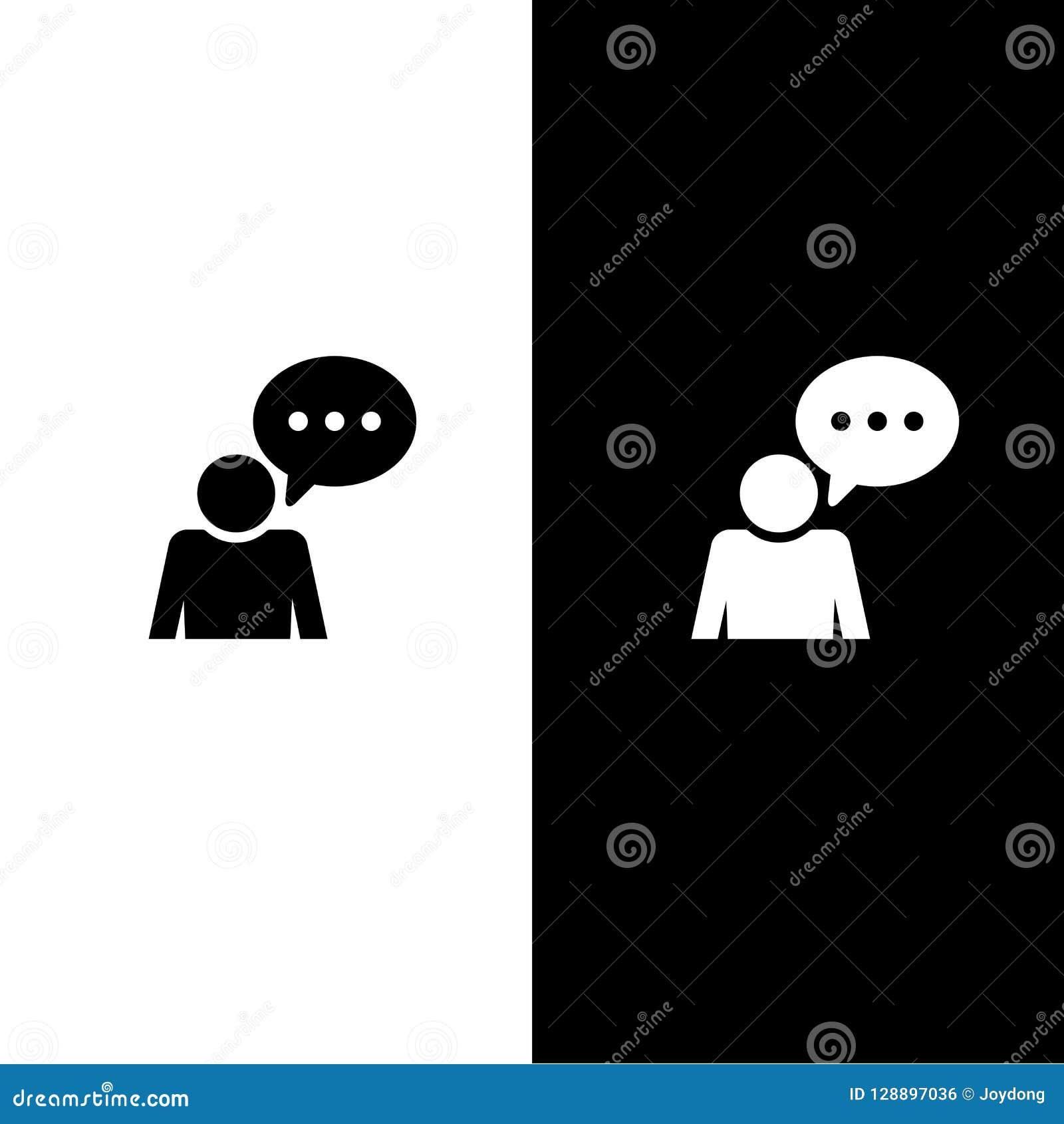 Значок переговора комментария изолированный на cyan голубой круглой иллюстрации конспекта кнопки
