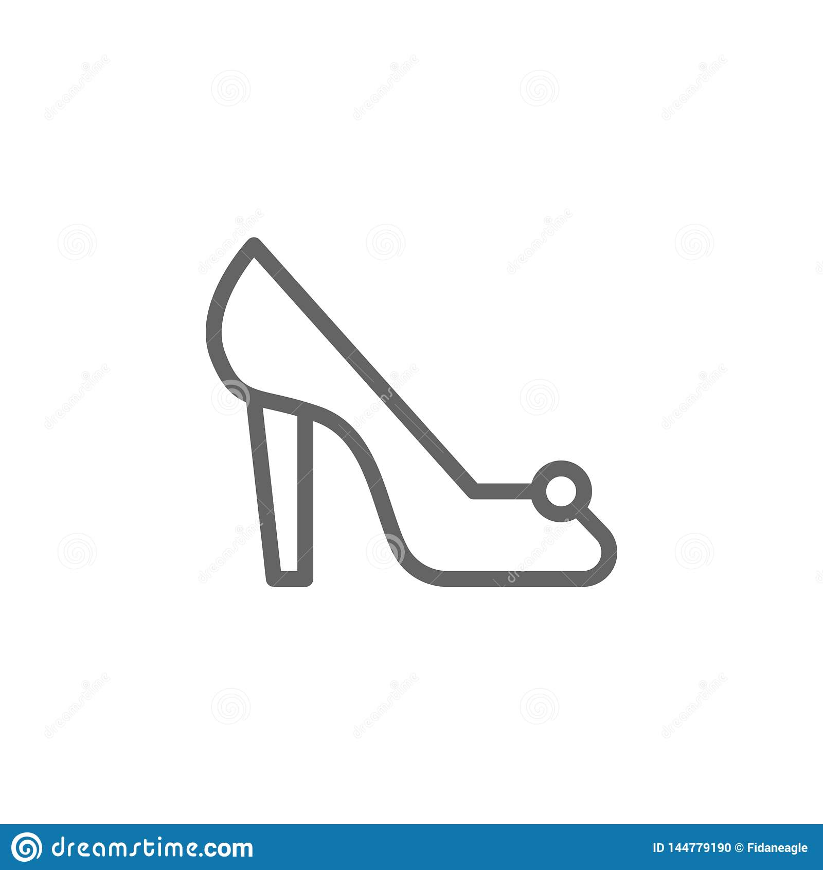 Значок плана ботинка дня матерей Элемент значка иллюстрации дня матерей Знаки и символы можно использовать для сети, логотипа, мо