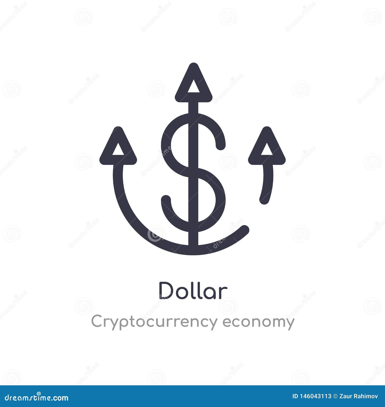 значок плана доллара r editable тонкий значок доллара хода дальше