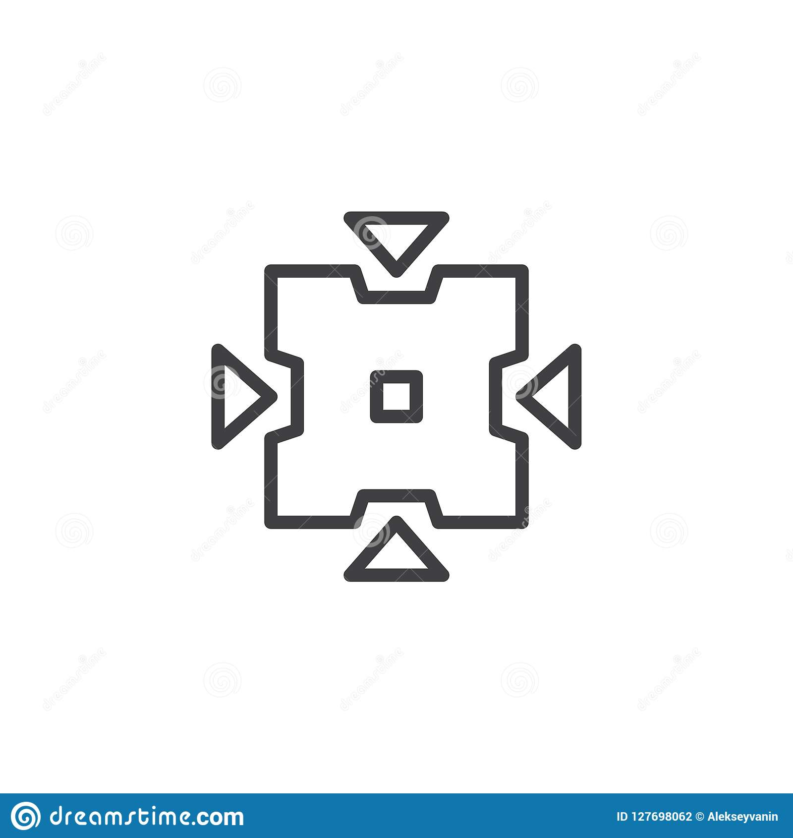 Значок плана кнопки инструмента щипка