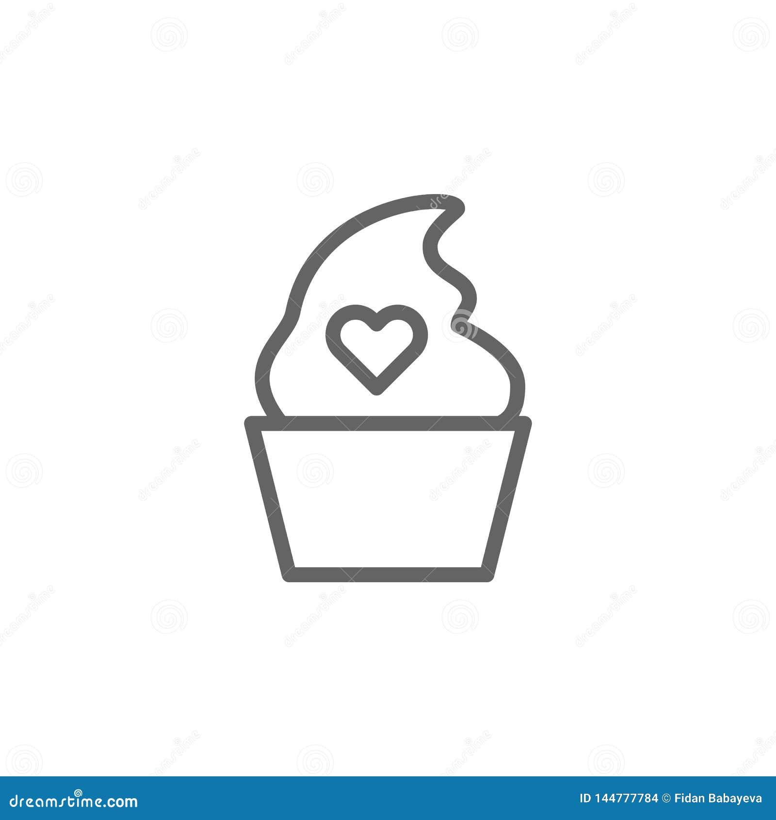 Значок плана мороженого дня матерей Элемент значка иллюстрации дня матерей Знаки и символы можно использовать для сети, логотипа,