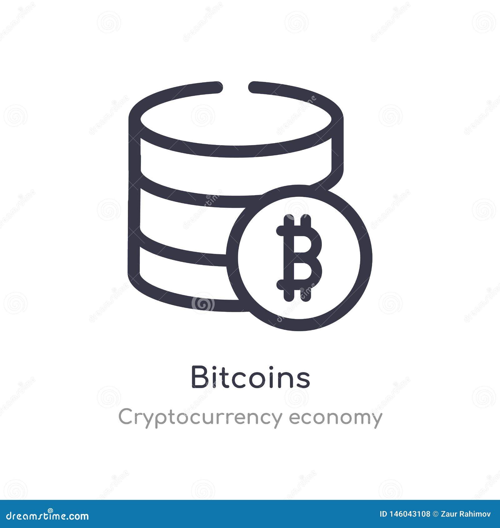 значок плана bitcoins изолированная линия иллюстрация вектора от собрания экономики cryptocurrency editable тонкие bitcoins хода
