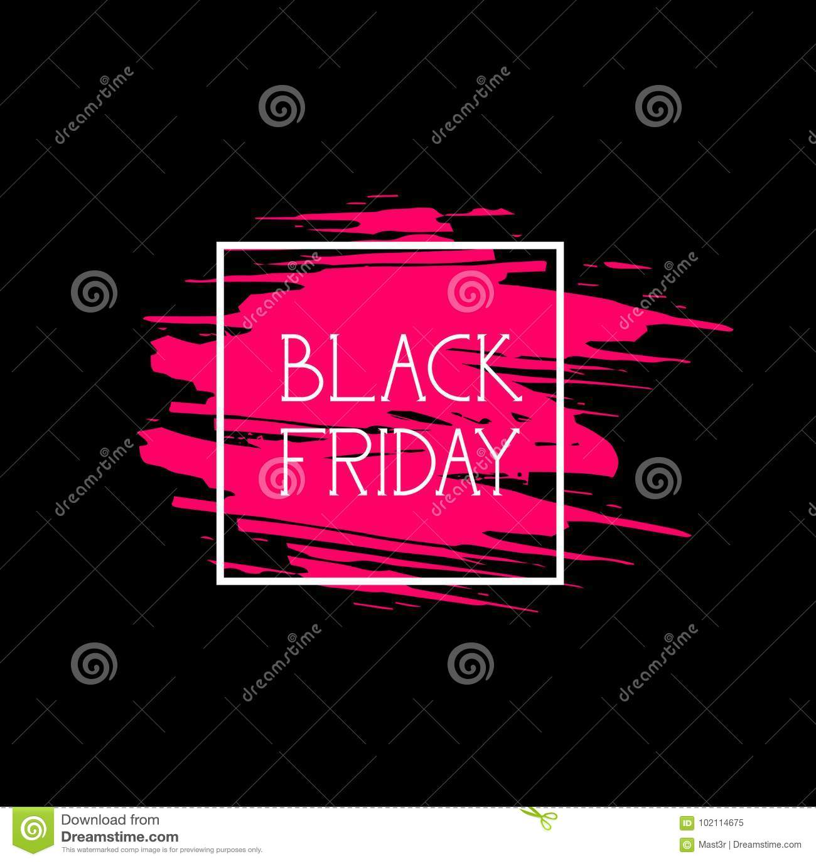 Значок продажи продвижения покупок черного ярлыка пятницы большой, логотип скидки цены на розовой предпосылке Grunge