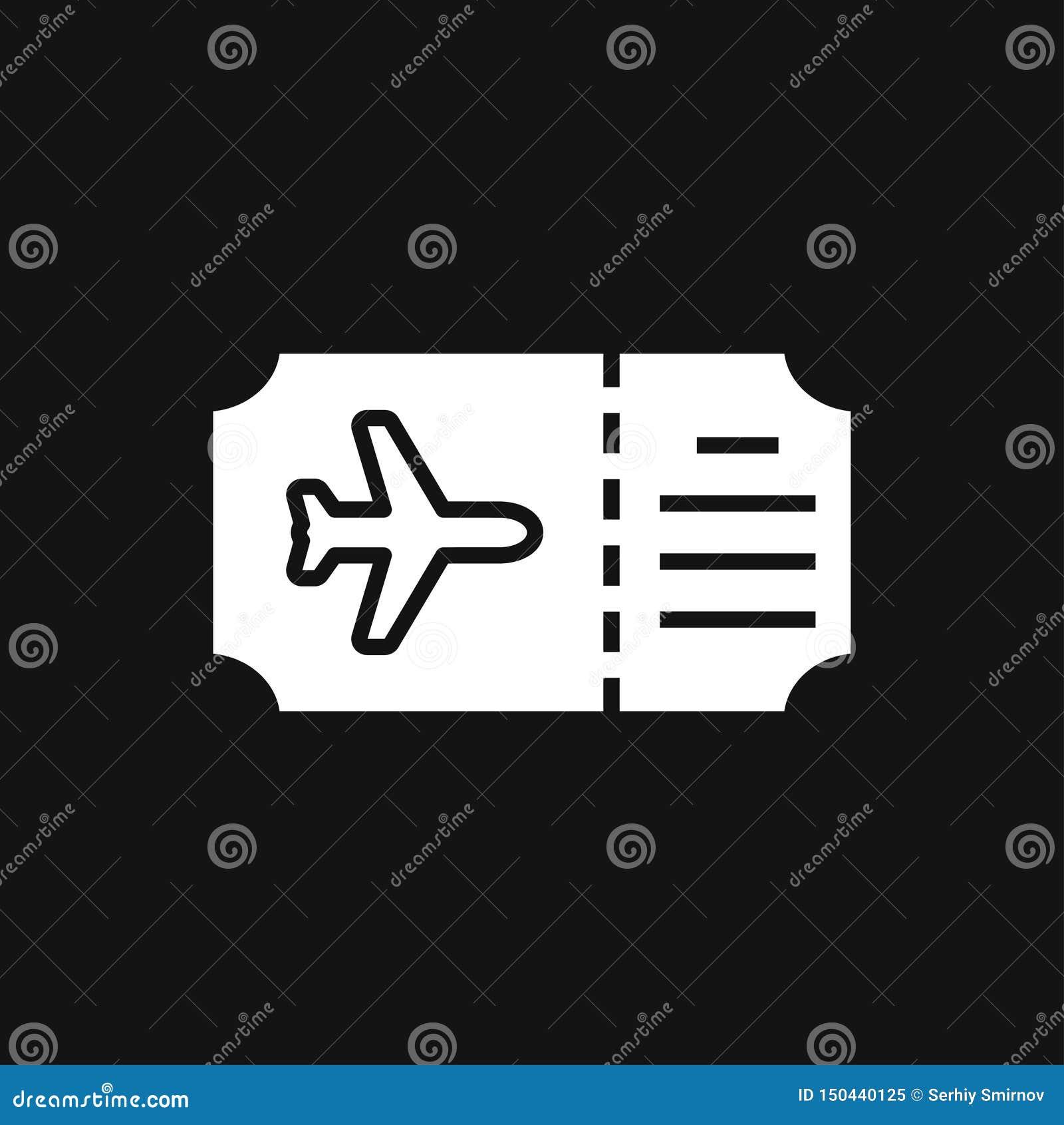 Значок проездных документов, паспорт с билетов изолированным значком плоско Перемещение и туризм концепции