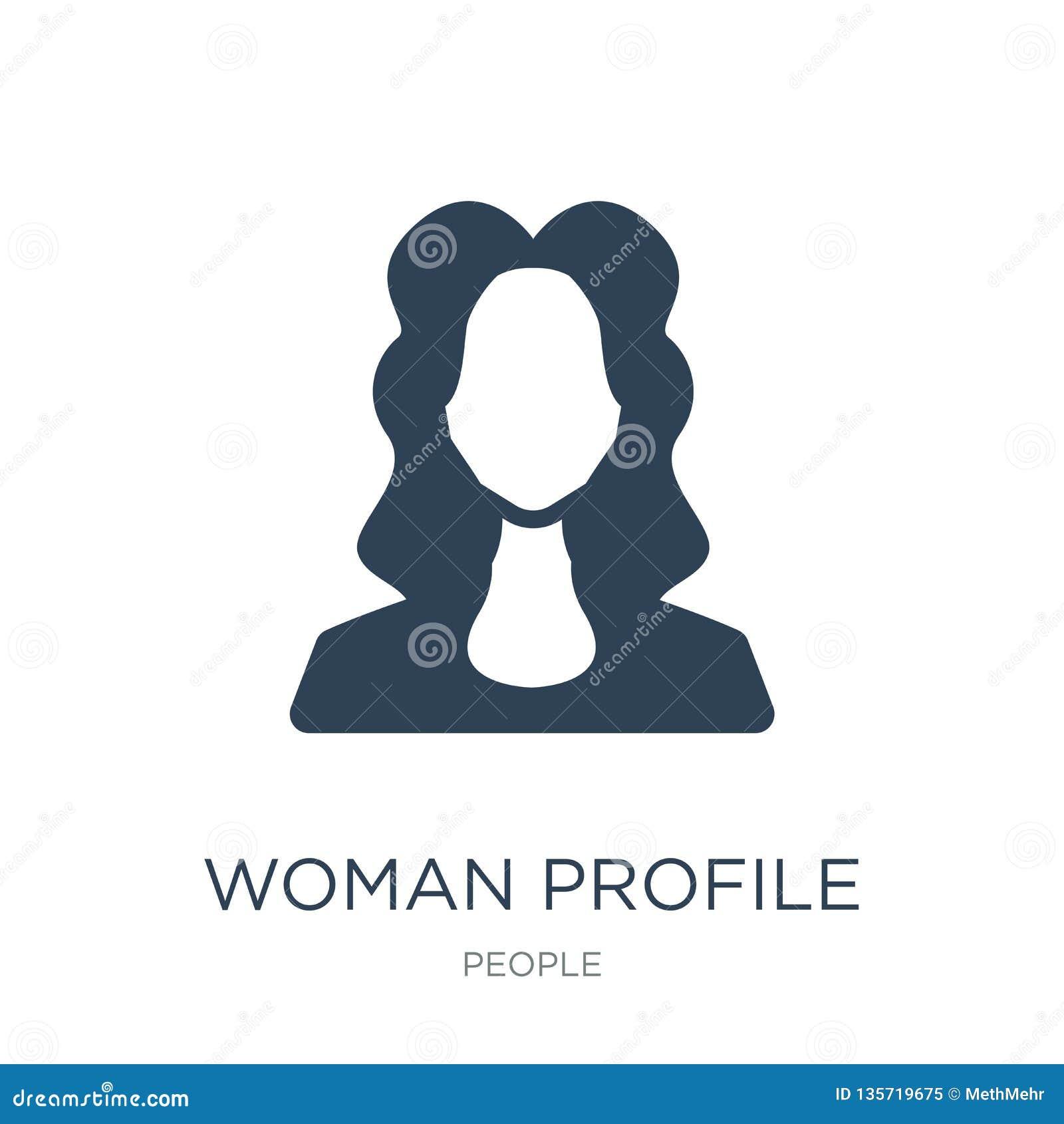значок профиля женщины в ультрамодном стиле дизайна значок профиля женщины изолированный на белой предпосылке значок вектора проф