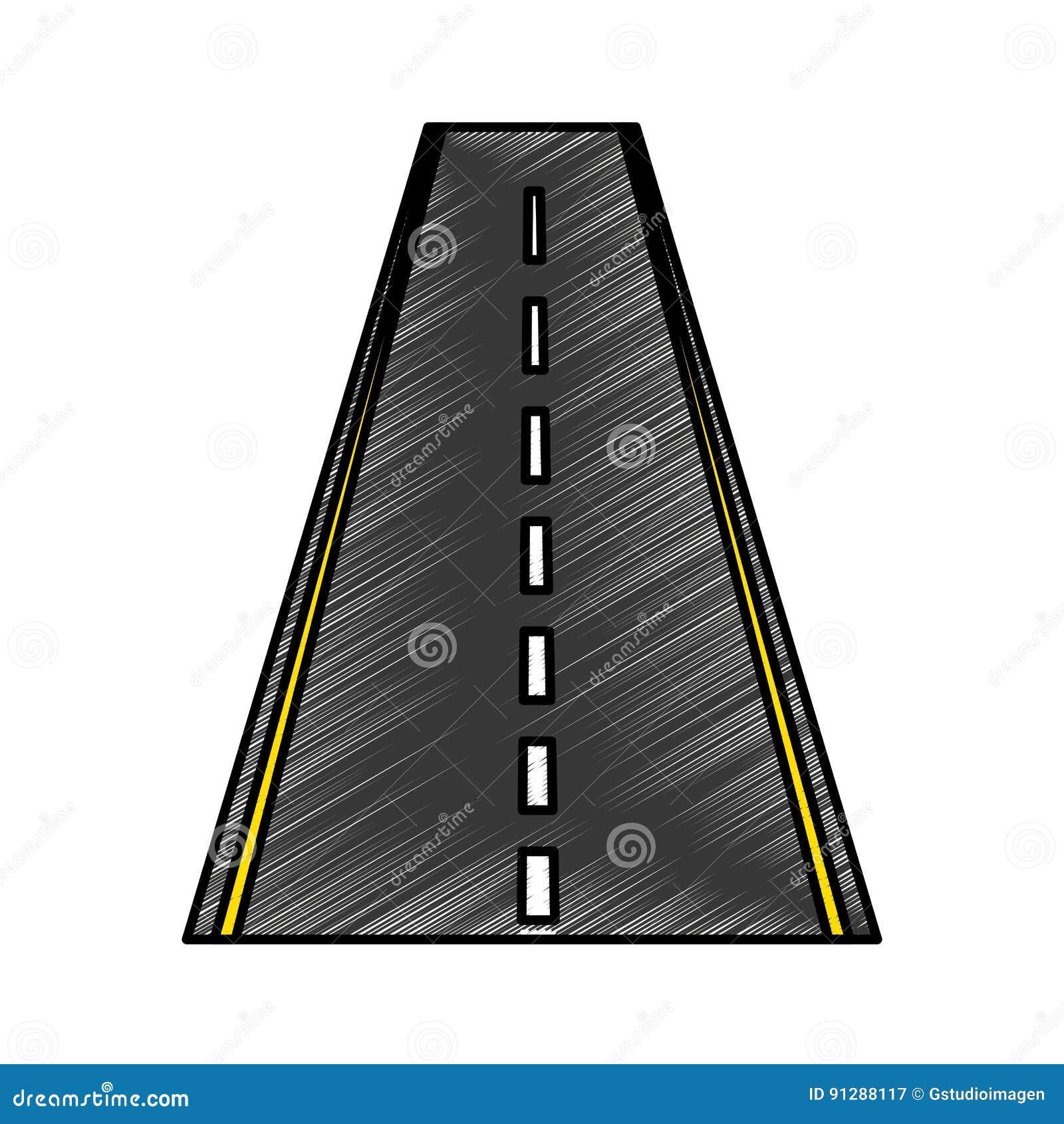 Значок прямой дороги изолированный