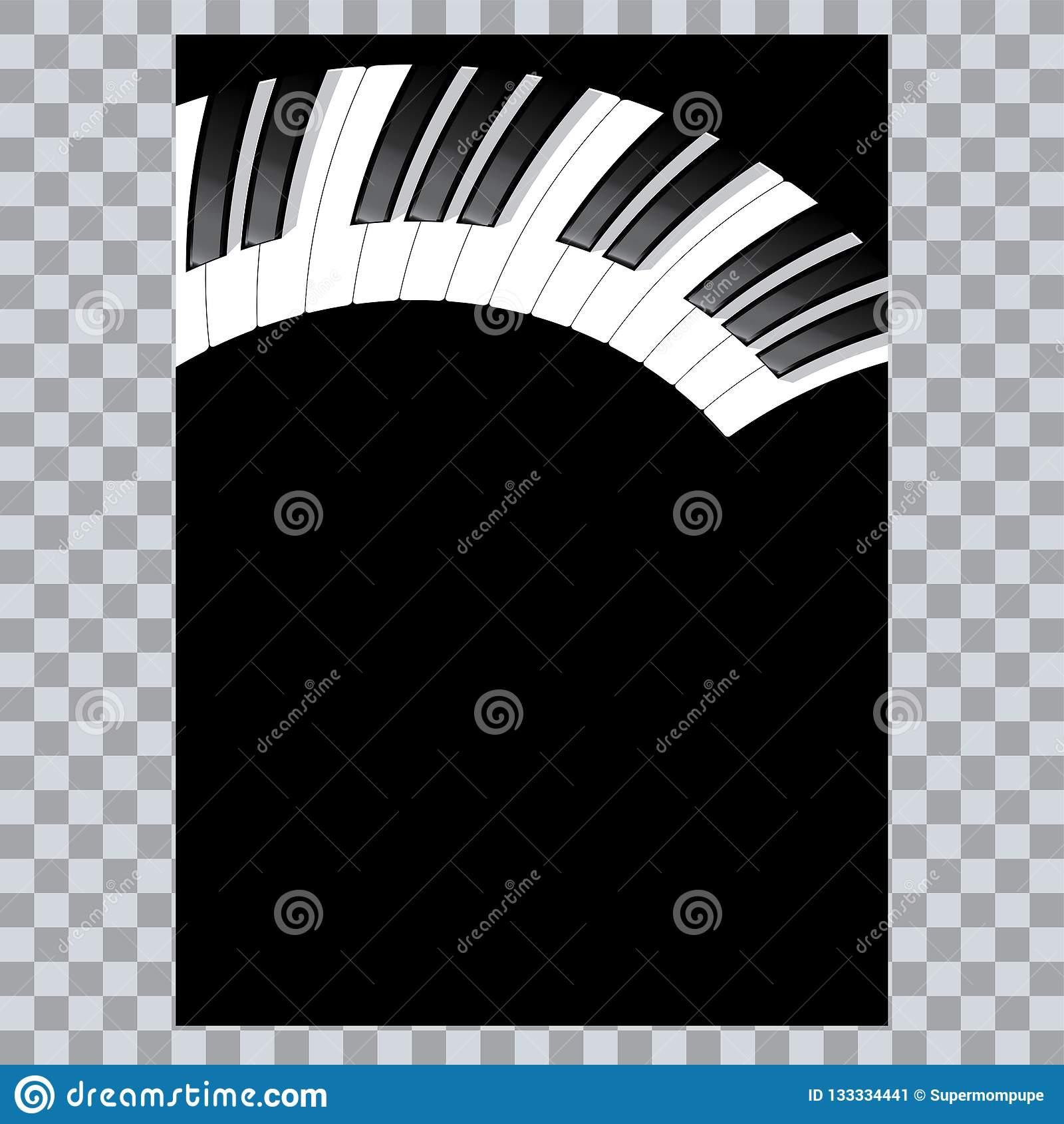 Значок рояля и ключи печати современной музыки концепции рояля и плаката рояля веб-дизайна на белом векторе