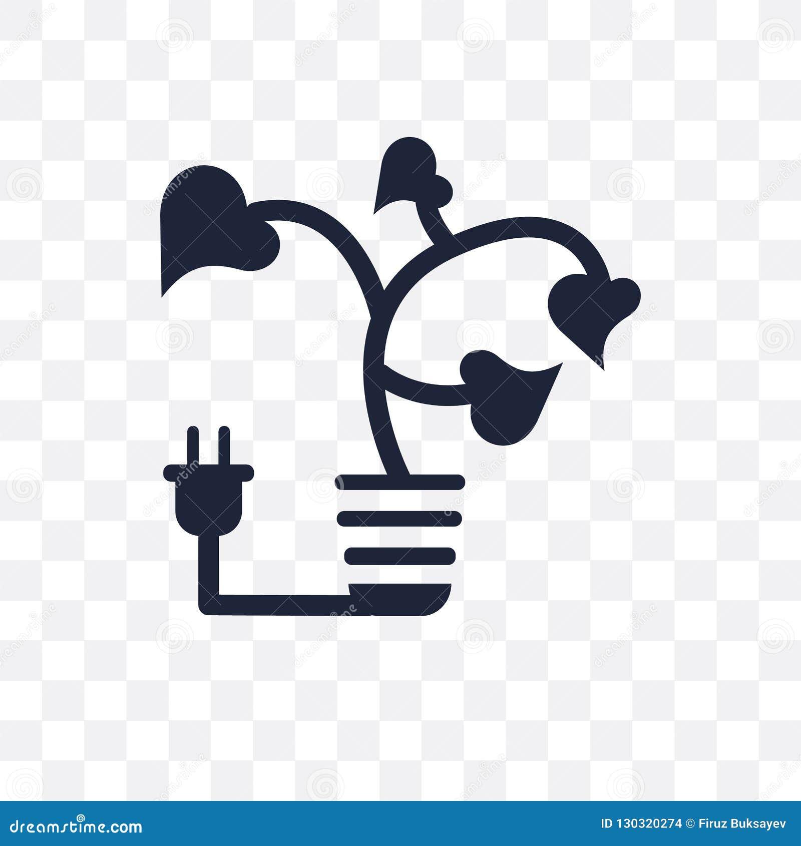 Значок света Eco прозрачный Дизайн символа света Eco от экологичности