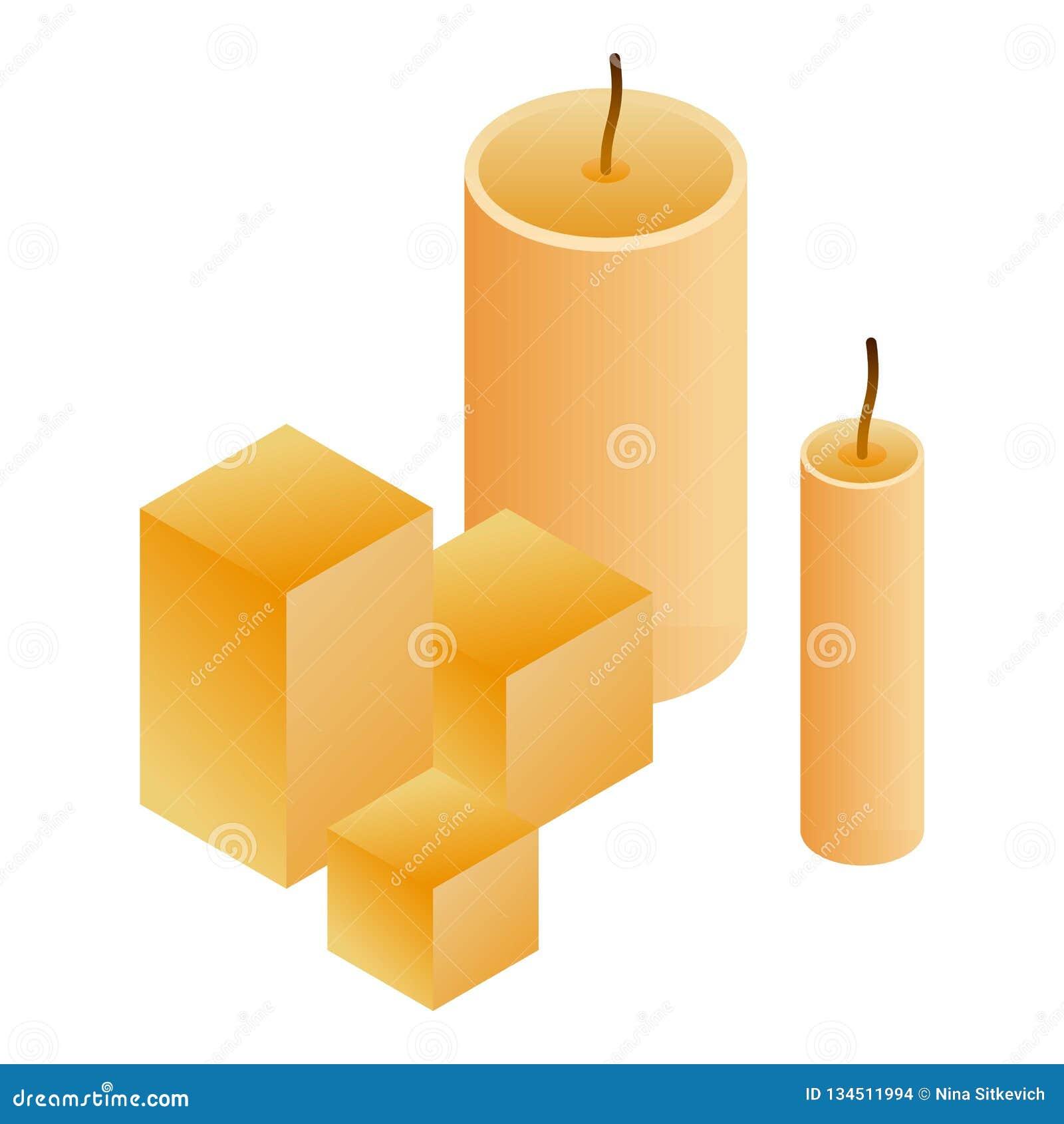 Значок свечи воска, равновеликий стиль