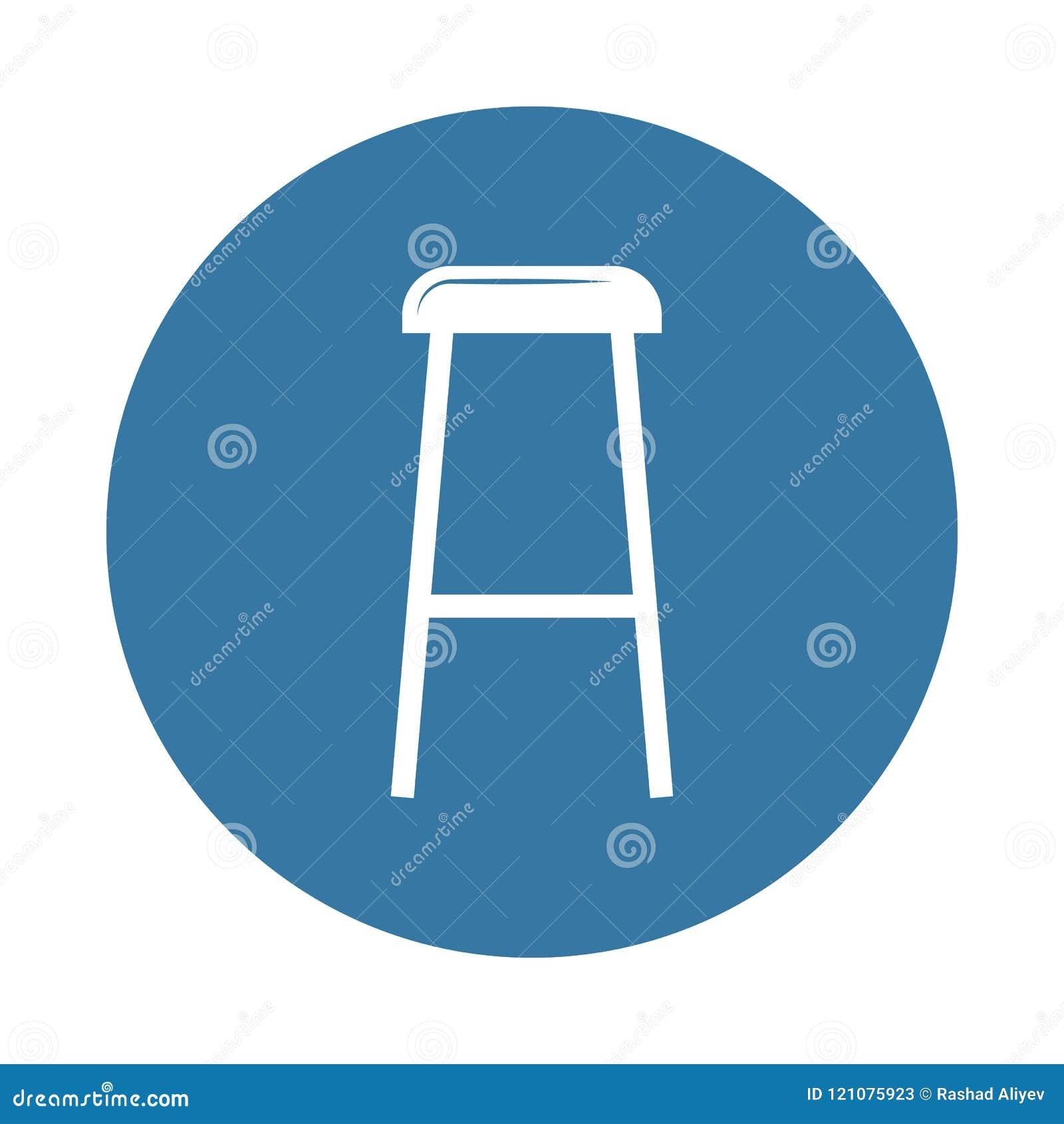 Значок табуретки Элемент значков мебели для передвижных apps концепции и сети Значок табуретки стиля значка можно использовать дл