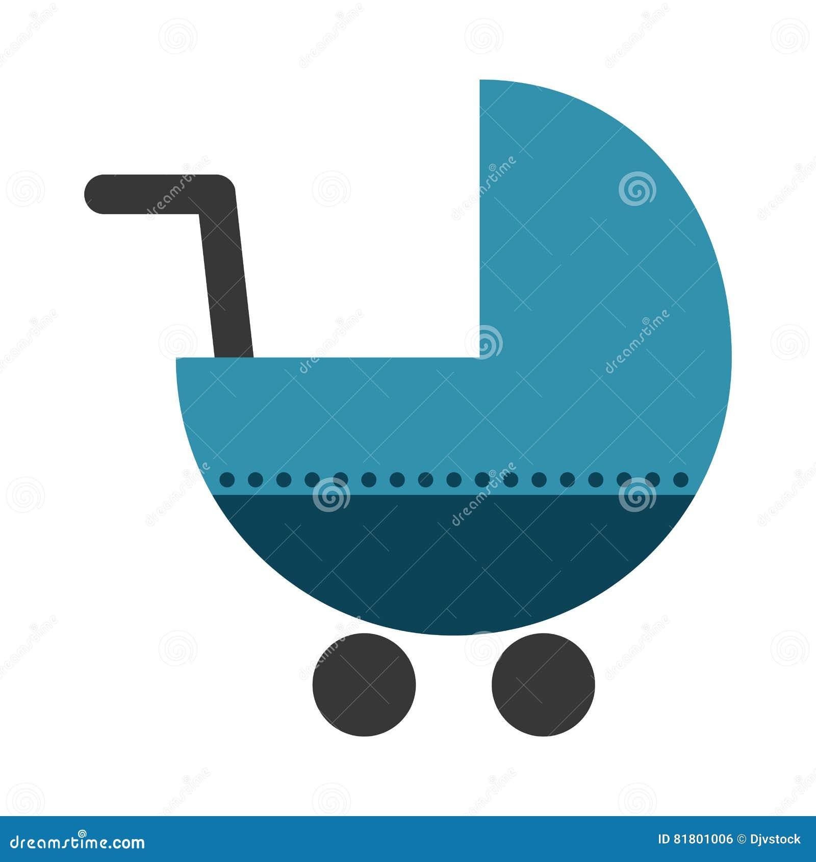 Значок тележки младенца