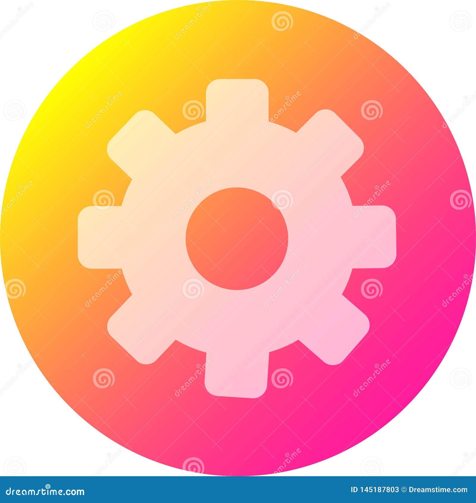значок установок для применений и дополнительных особенностей