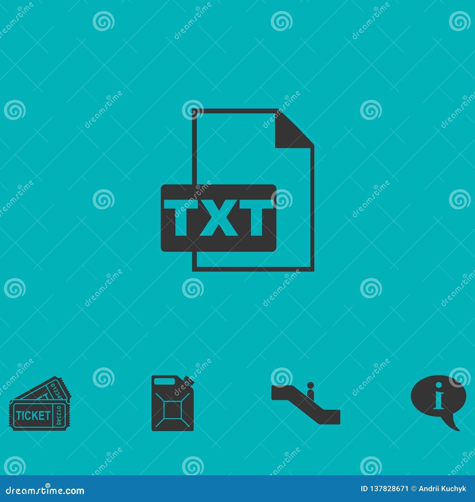 Значок файла TXT плоско