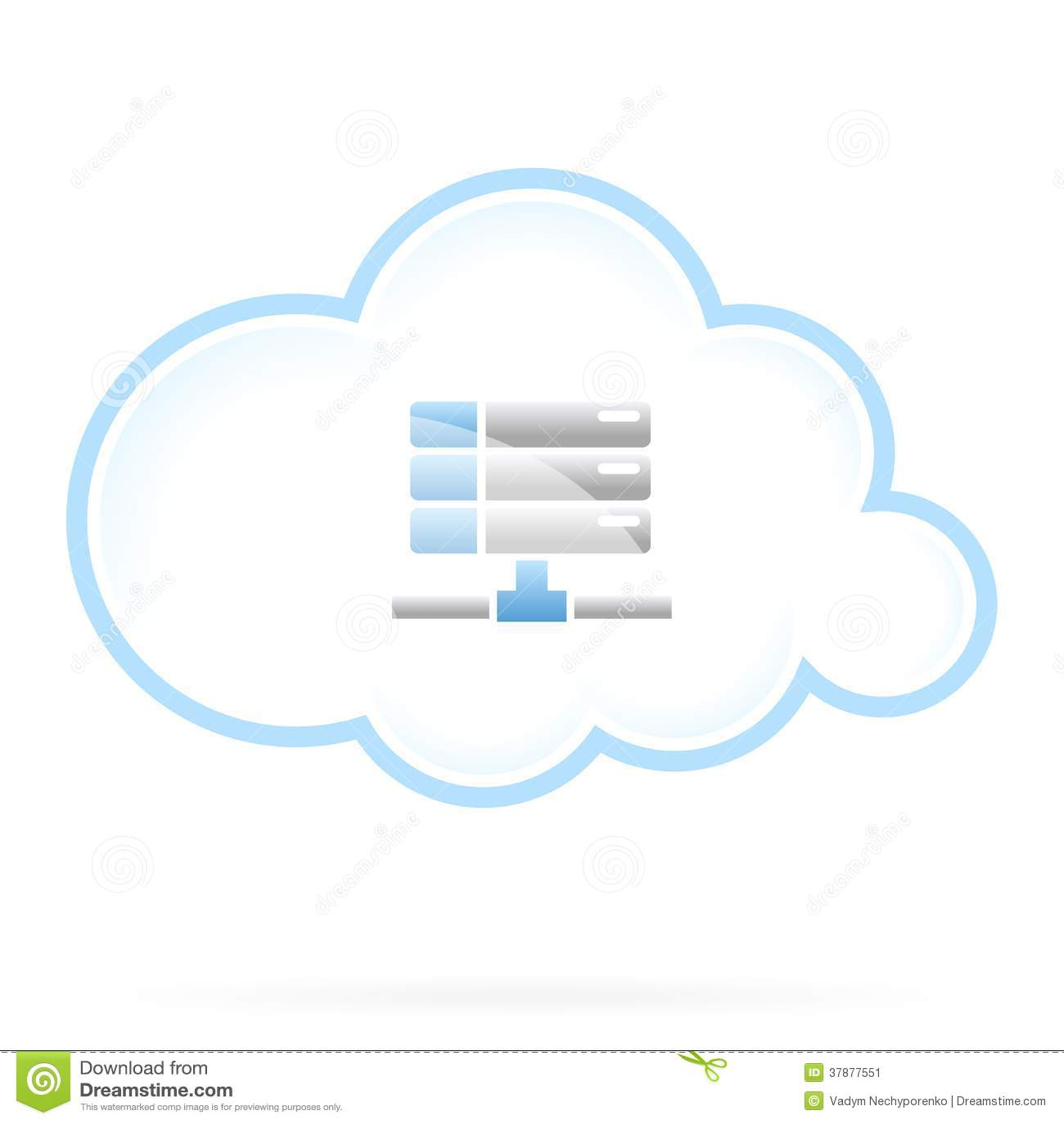 Значок хранения облака