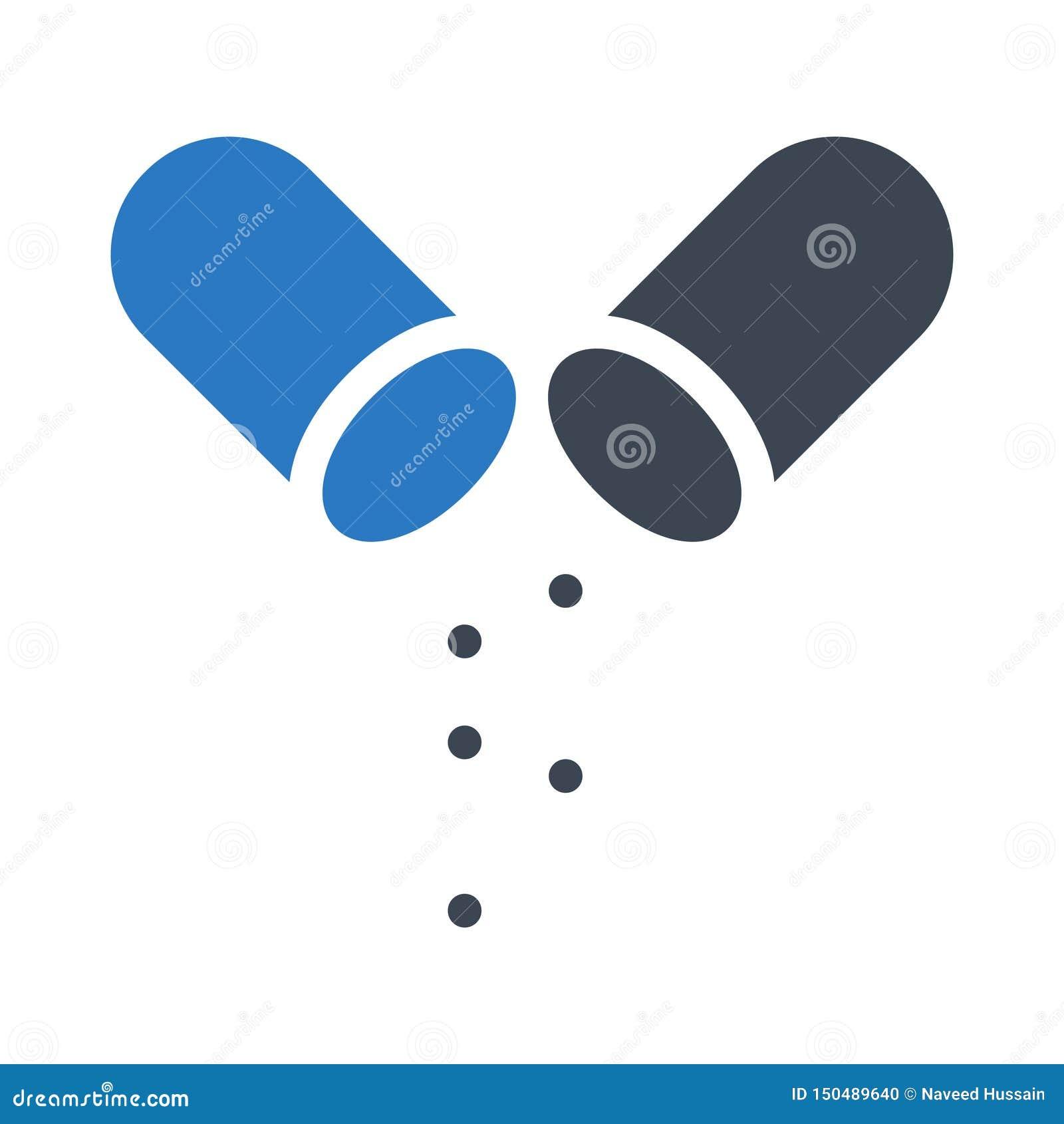 Значок цвета глифа лекарств