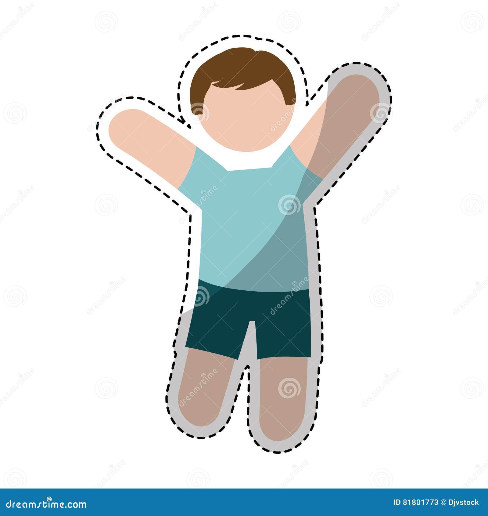 Значок человека шаржа