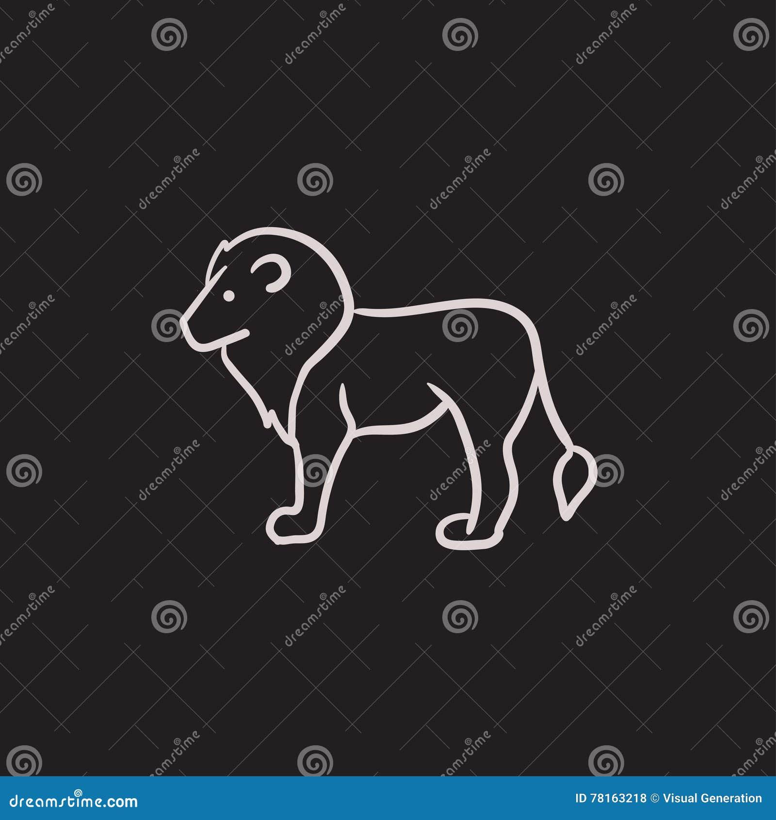 Значок эскиза льва