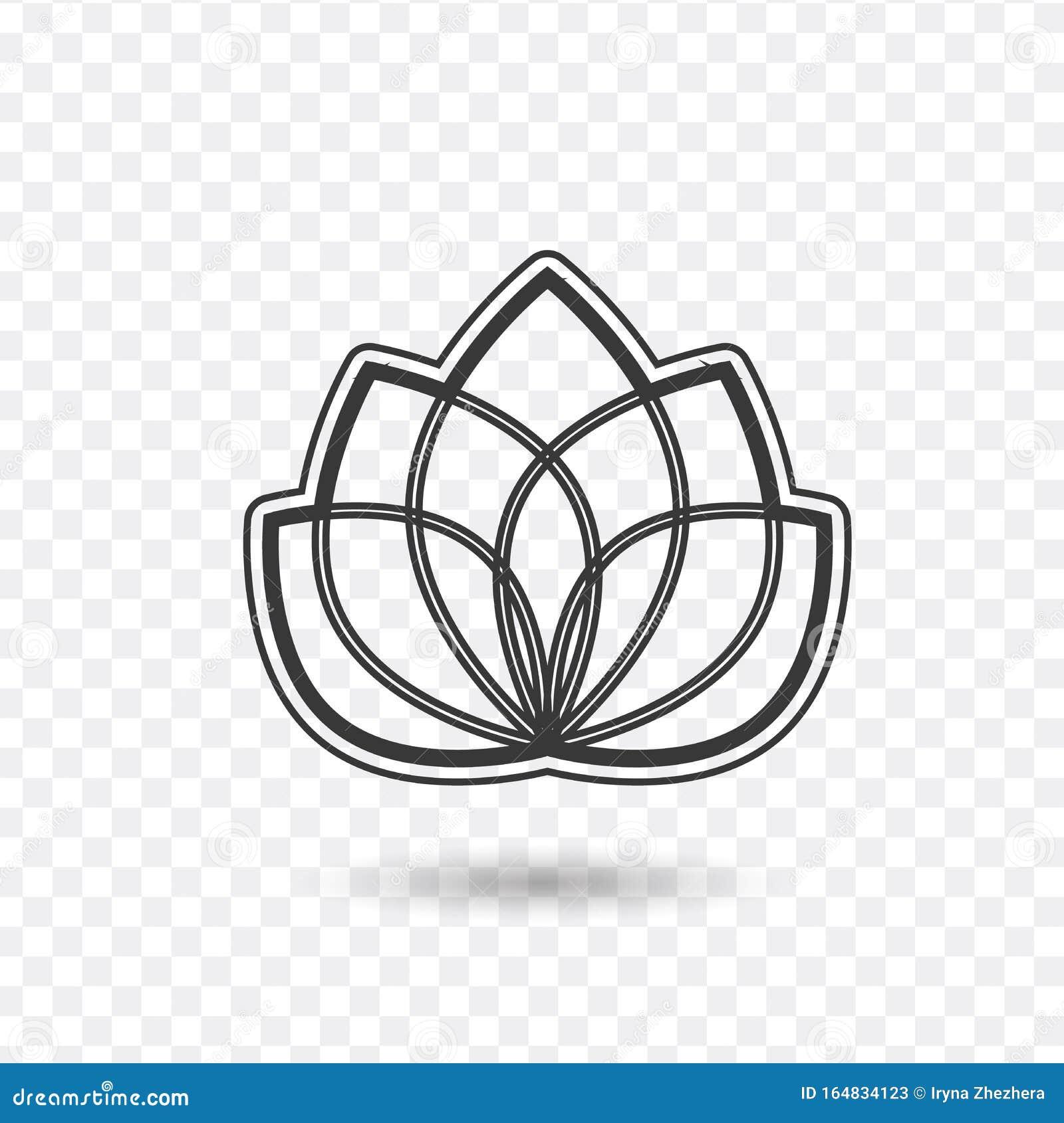 Znachok Lotus Ili Znachok Garmoniya Illyustraciya Vektora Sklada Izolirovannaya Na Belom Fone Illyustraciya Shtoka Illyustracii Naschityvayushej Garmoniya Na 164834123