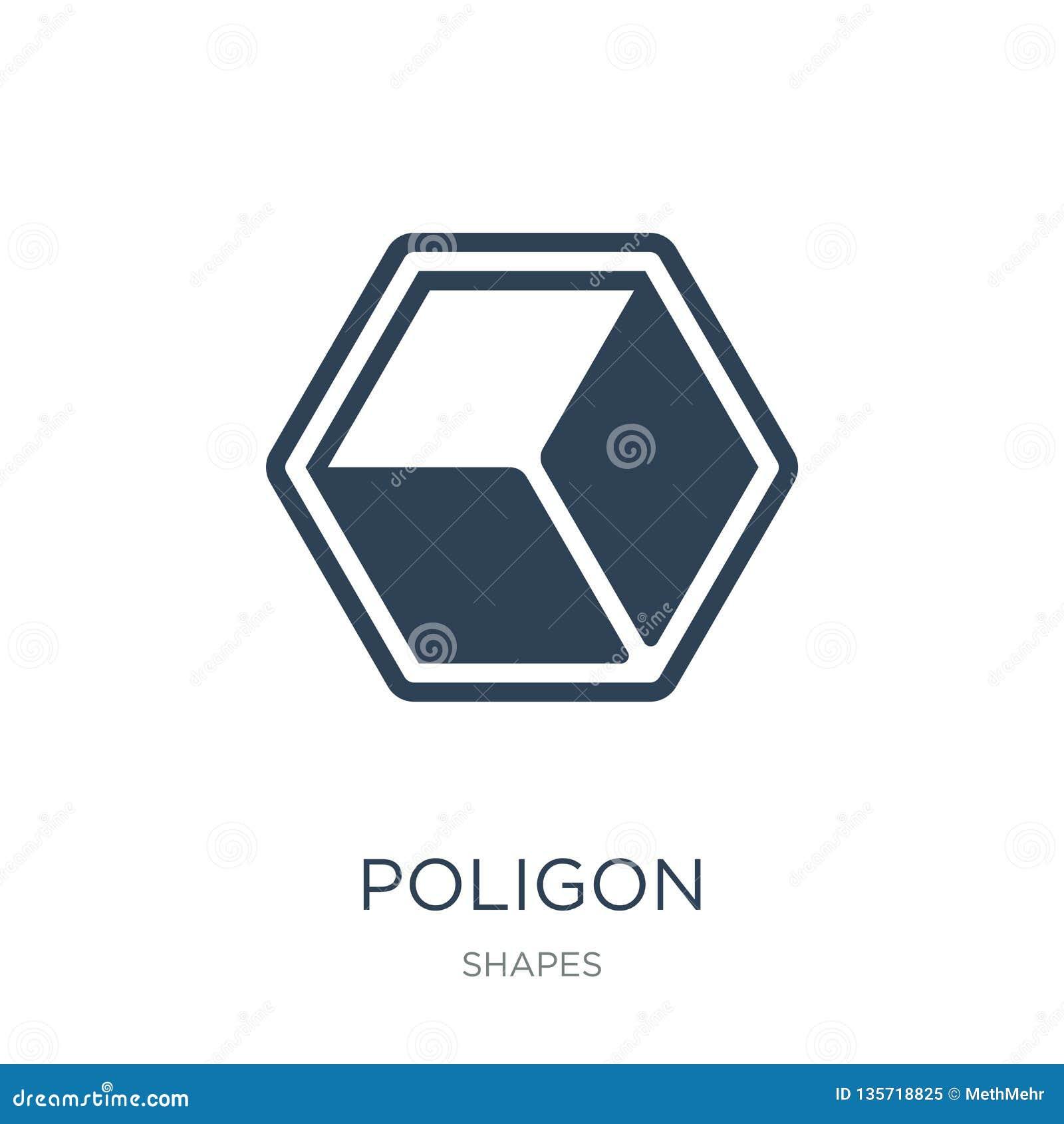 значок poligon в ультрамодном стиле дизайна значок poligon изолированный на белой предпосылке символ значка вектора poligon прост