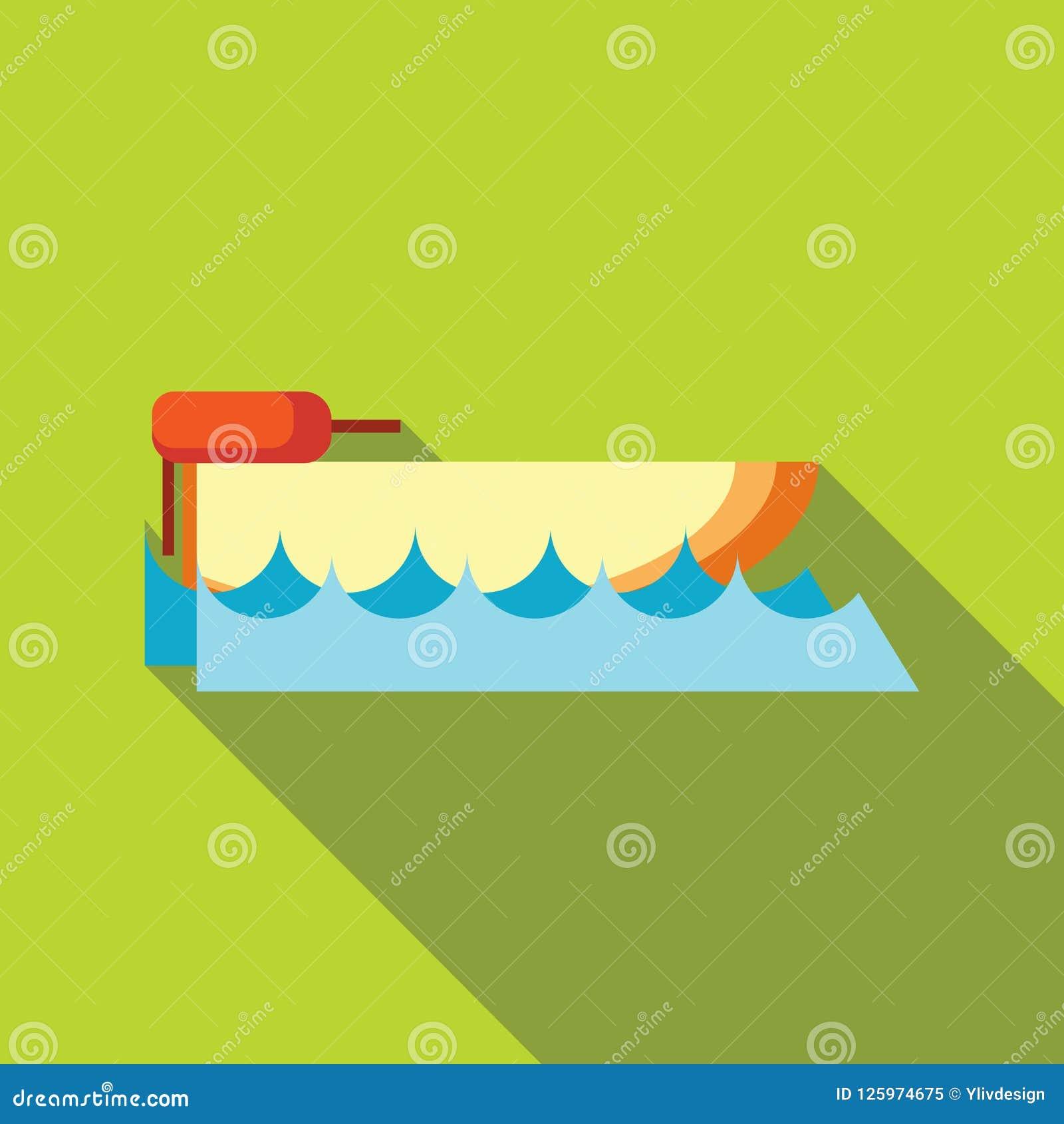 Значок Powerboat в плоском стиле
