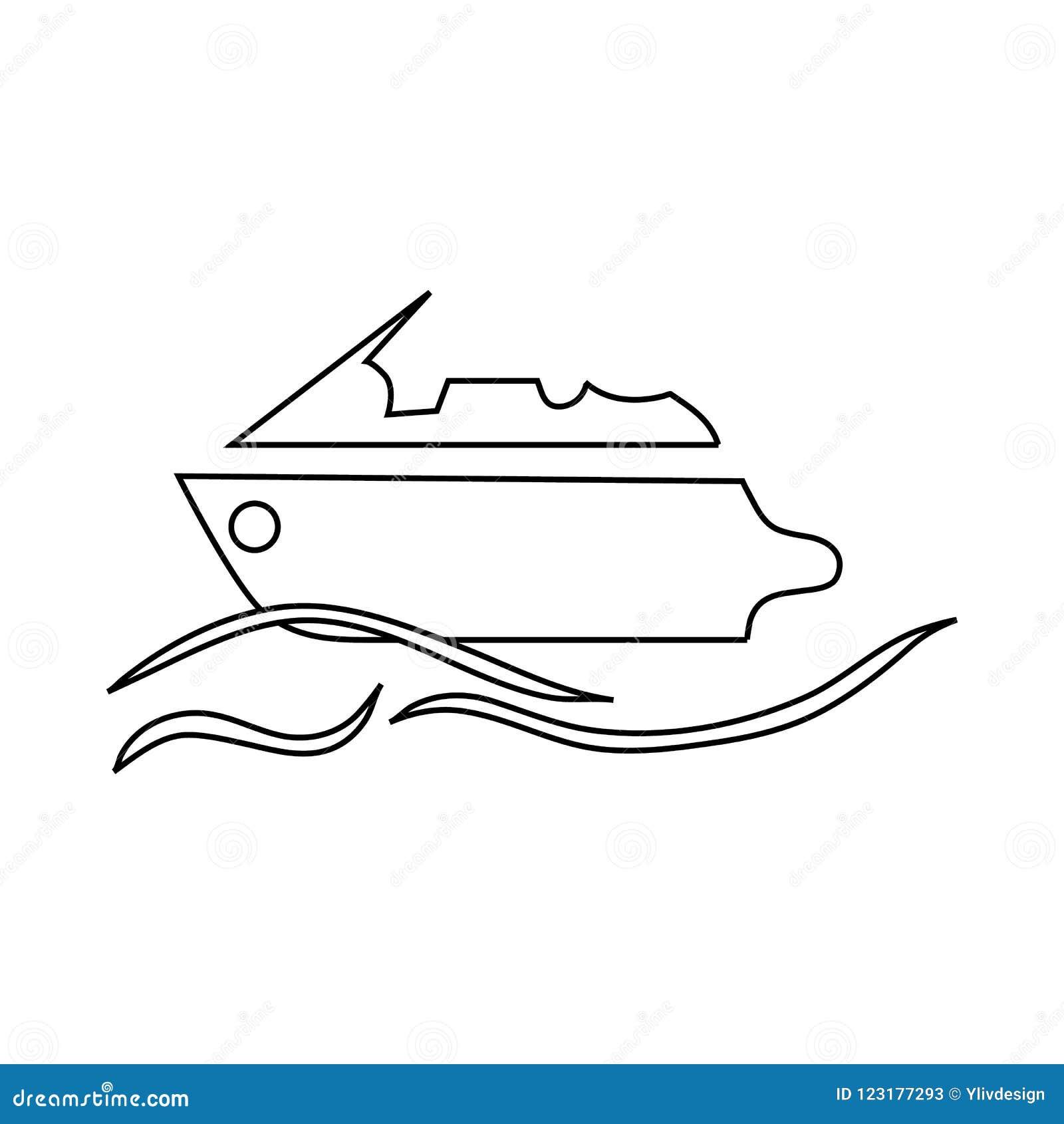 Значок Powerboat в стиле плана