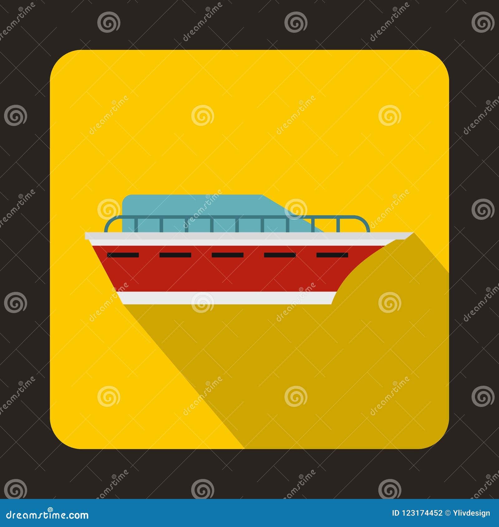 Значок Powerboat, плоский стиль
