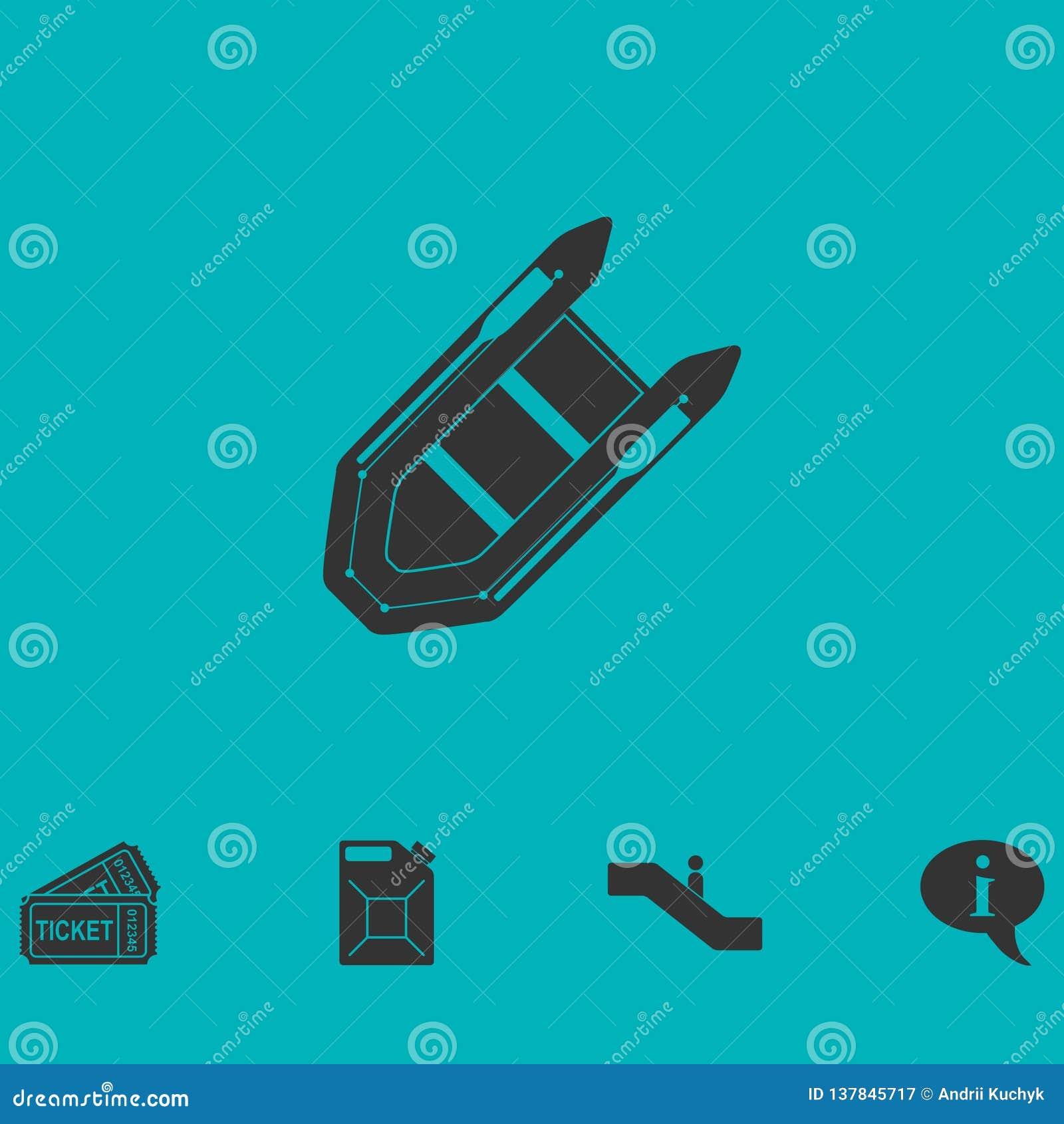Значок Powerboat плоский